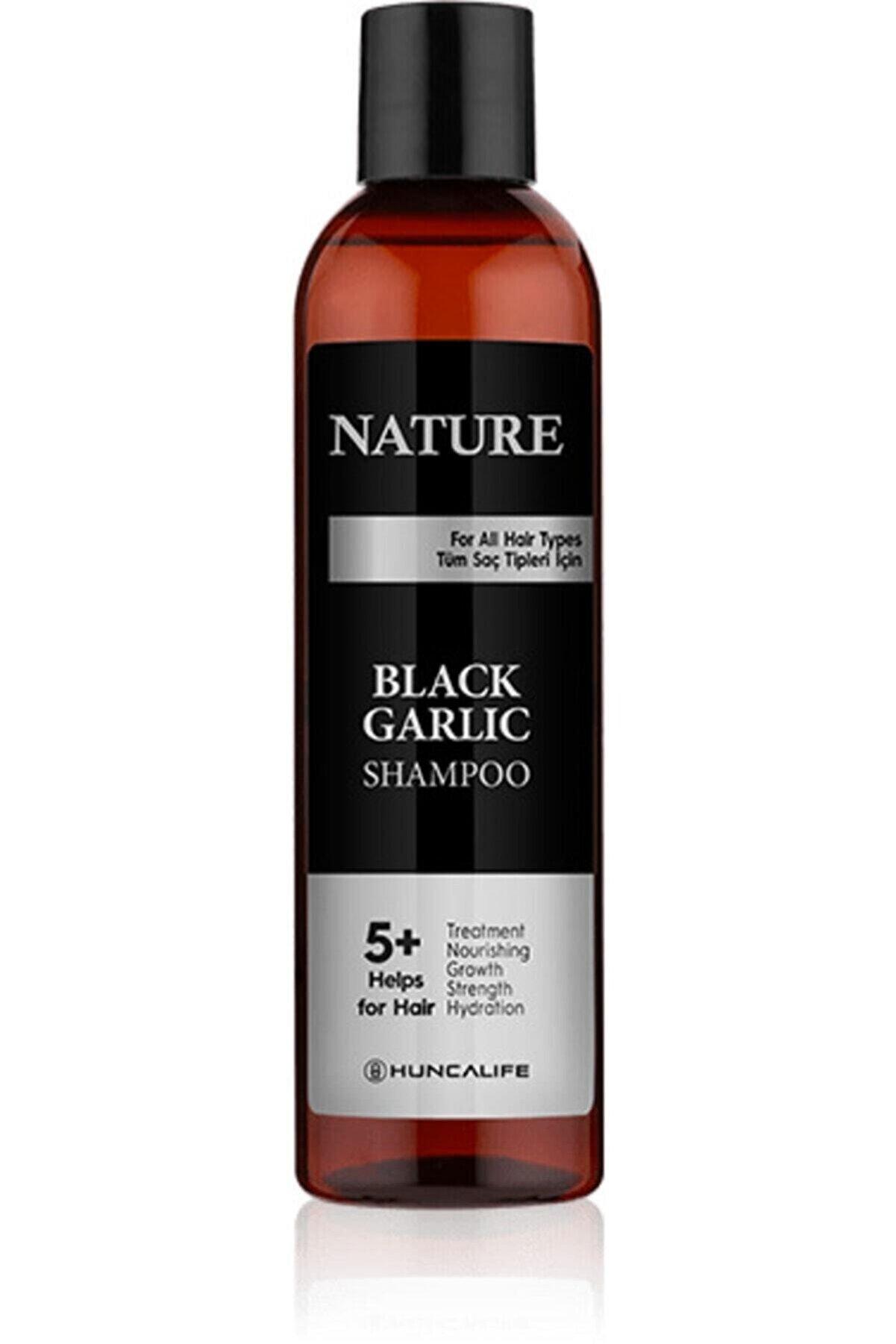 Hunca Nature Siyah Sarımsaklı Şampuan 350 ml