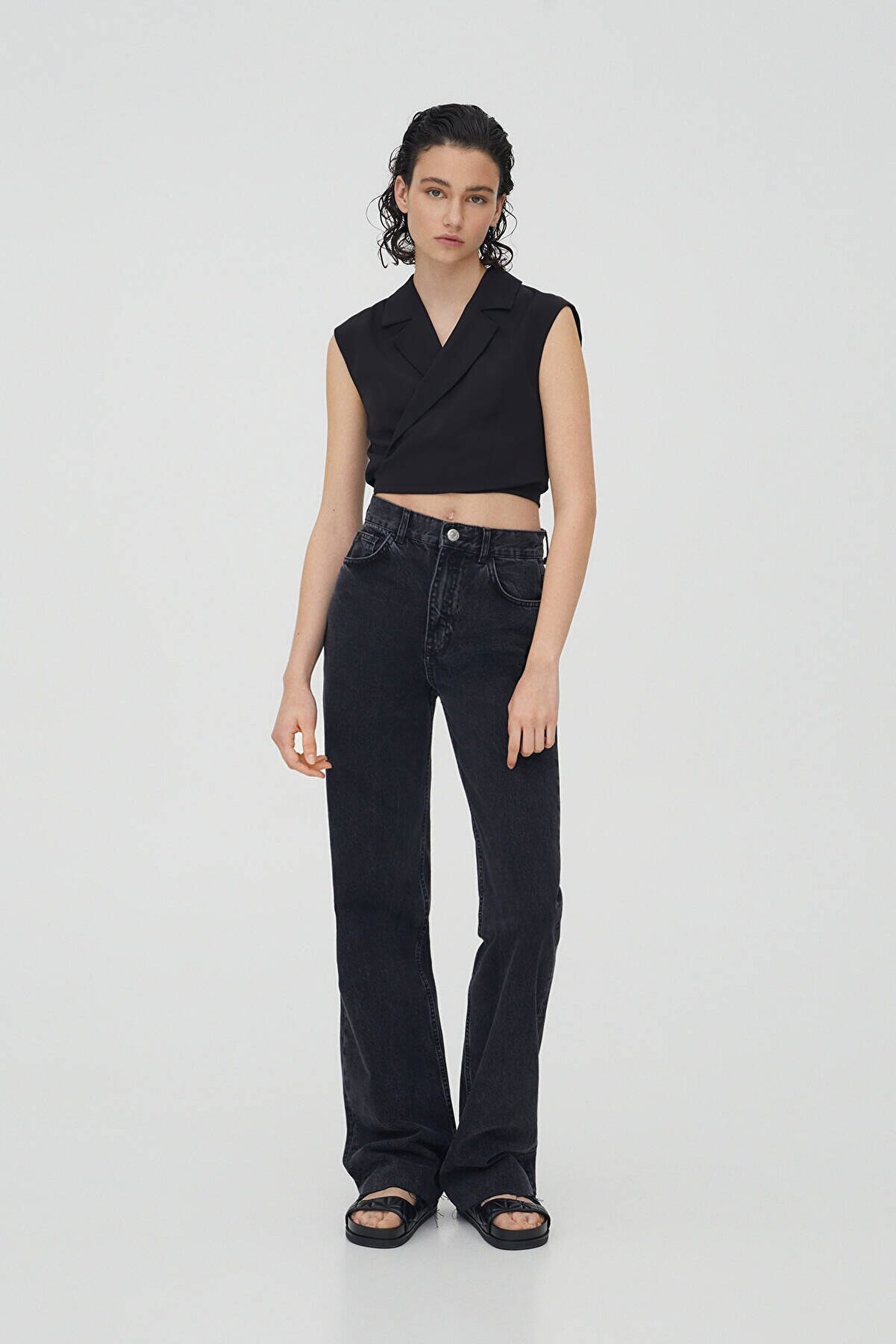 Pull & Bear Yüksek Bel Straight Fit Jean