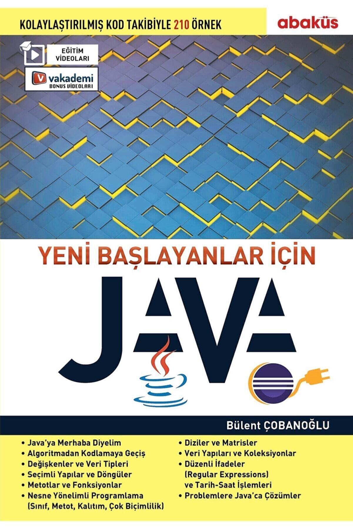 Abaküs Kitap Yeni Başlayanlar İçin Java Eğitim Videolu