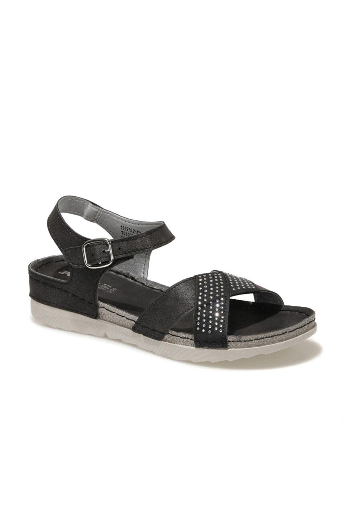 Polaris 161975.Z1FX Siyah Kadın Sandalet 101020064