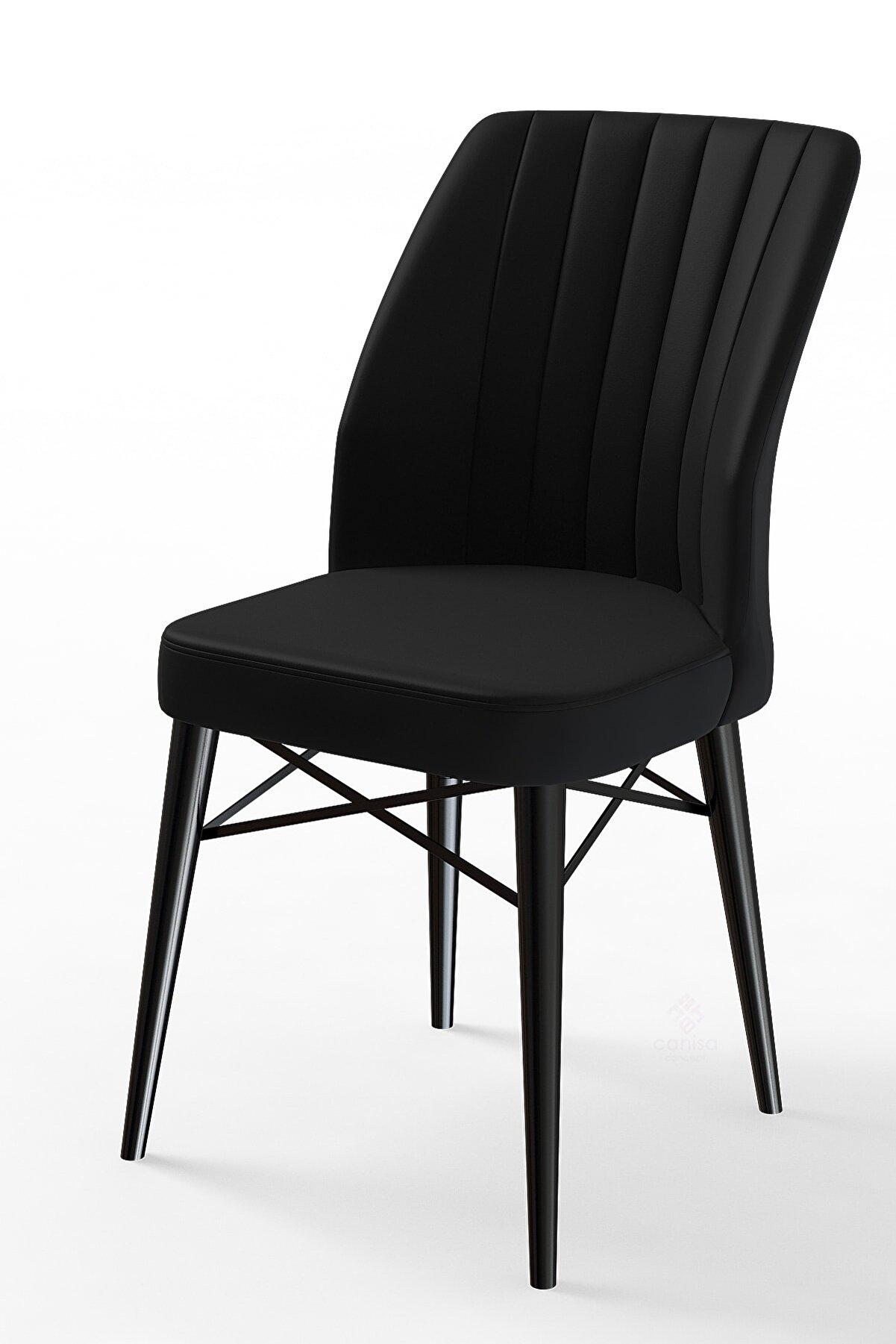 Canisa Concept Siyah Renk Sandalye 6 Adet