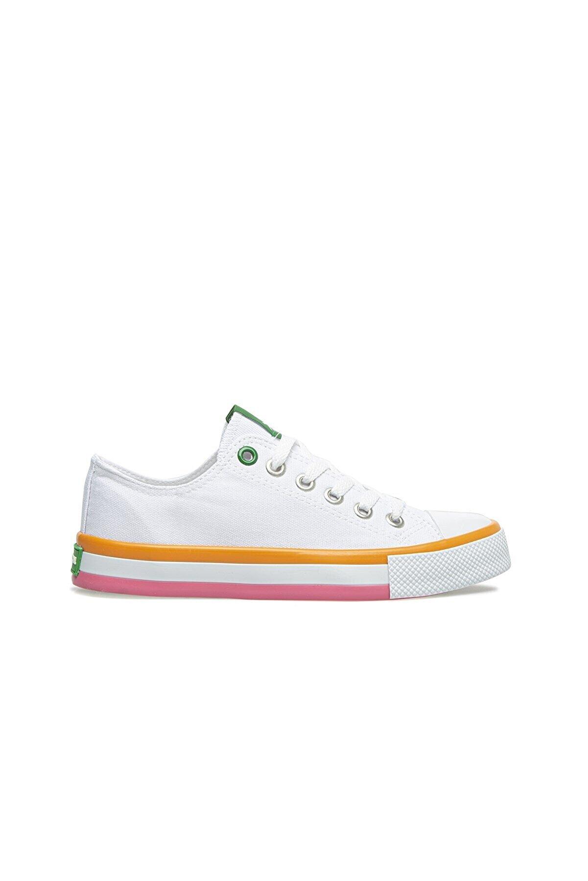 Benetton Kadın Beyaz Spor Ayakkabı