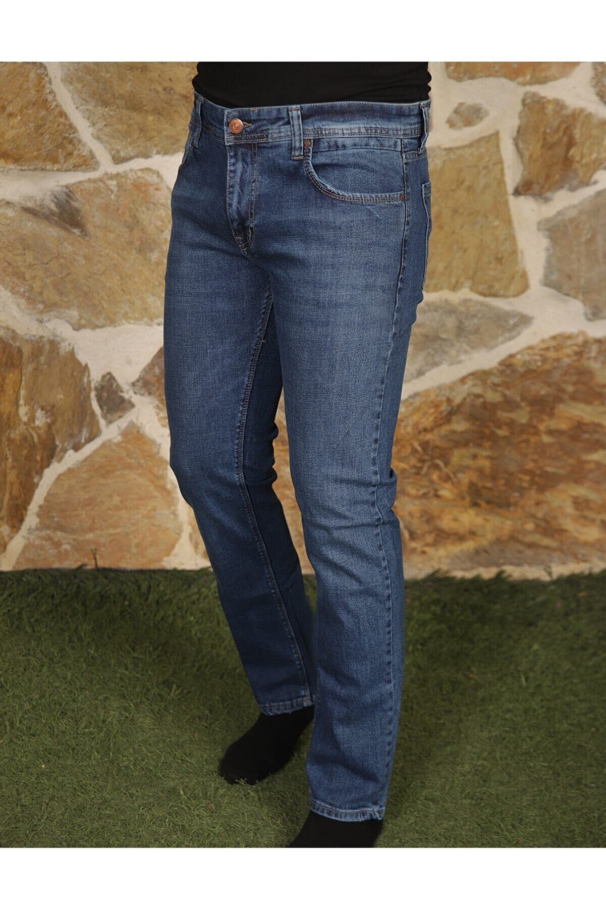 REAXION DENIM Erkek Mavi Denim Regular Fit Jeans Rx0634