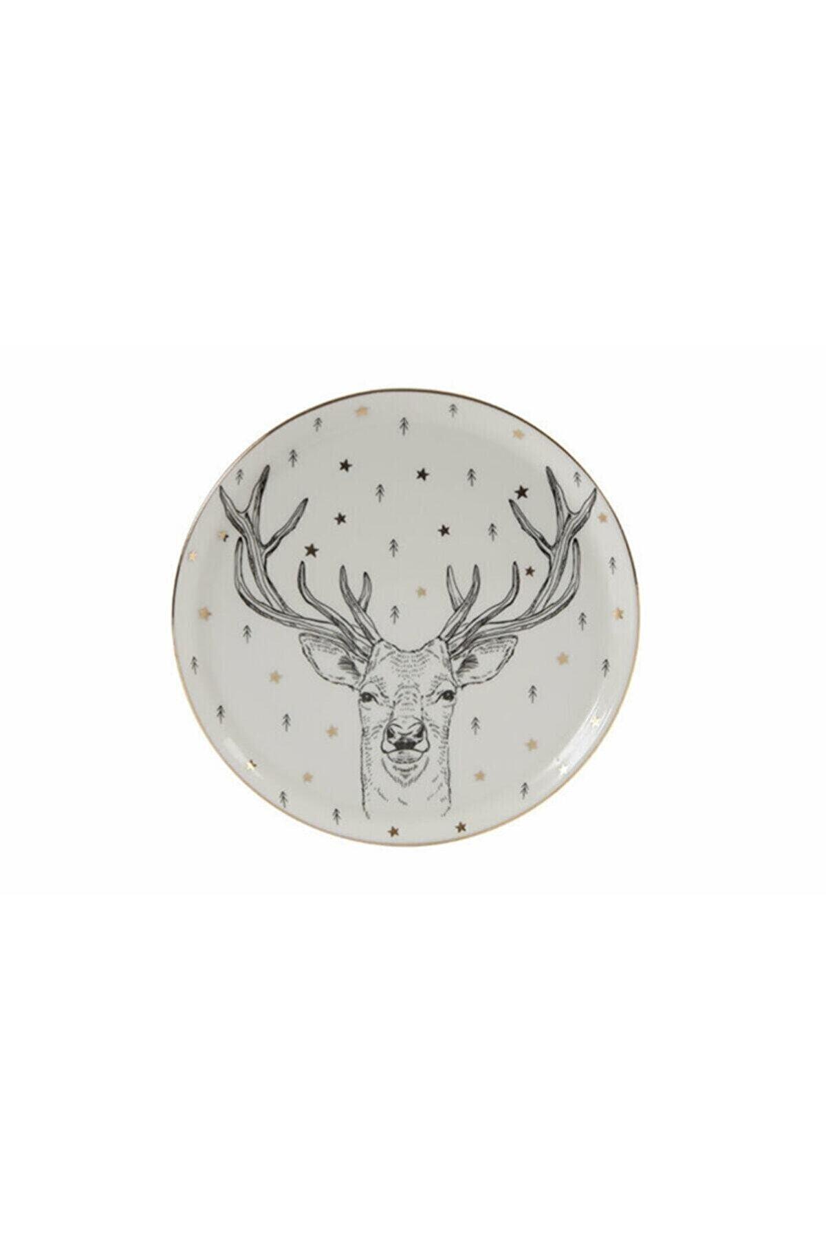 Porland Forest Deer Düz Tabak 20cm