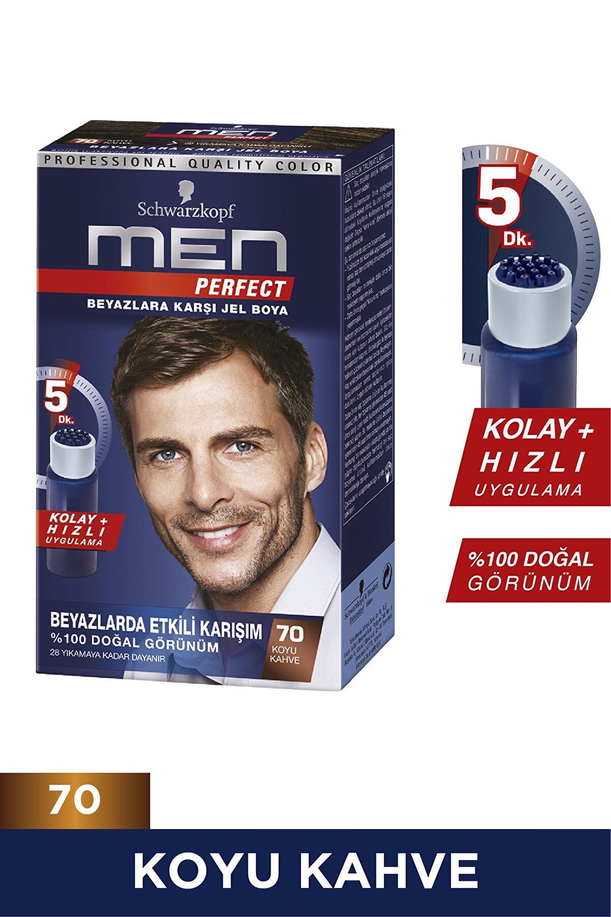 Men Perfect Koyu Kahve (70) Saç Boyası
