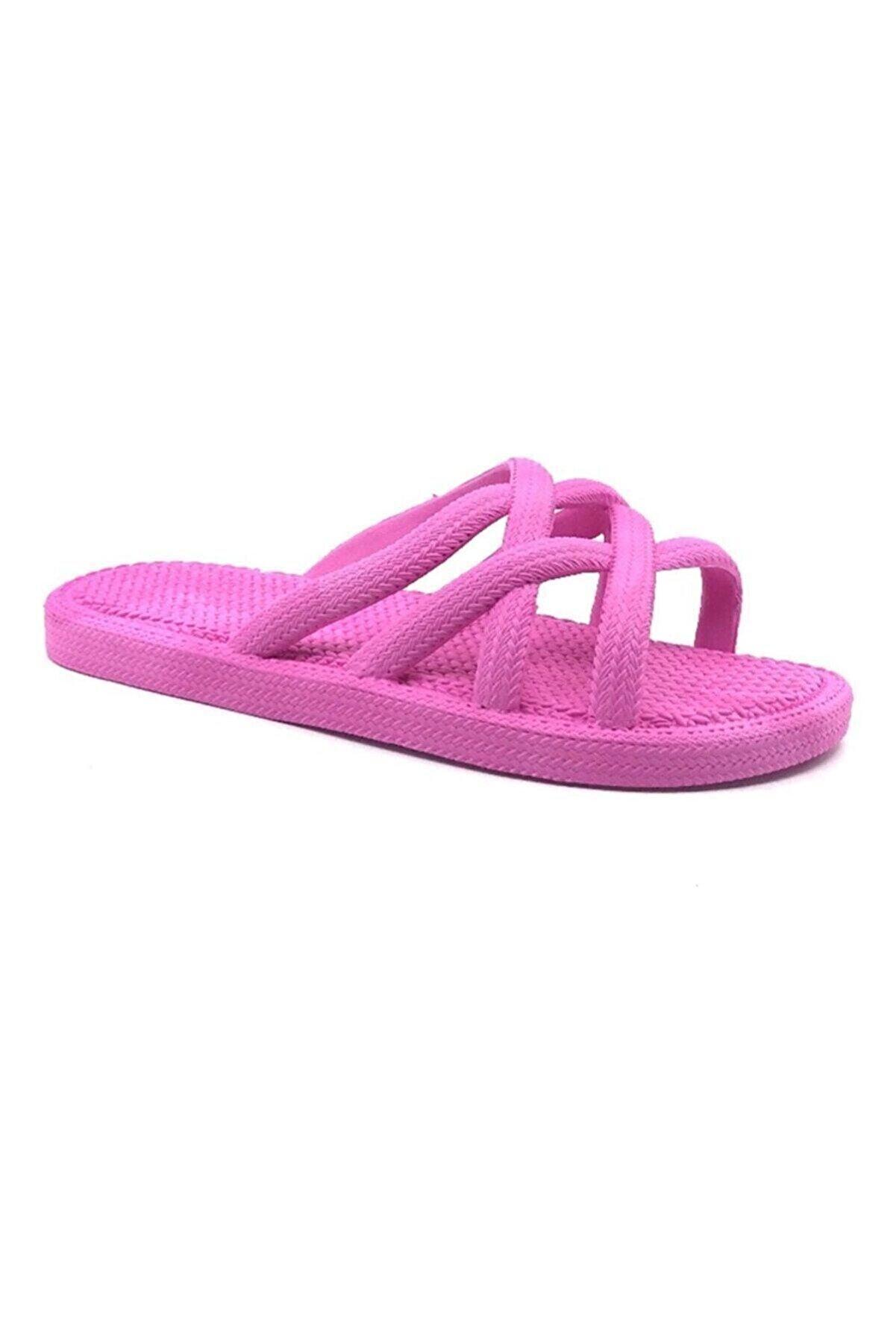 Gezer Kadın Hasır Gorunum Yazlık Havuz Deniz Banyo Plaj Ve Günlük Terlik- Altın Adım Ayakkabı