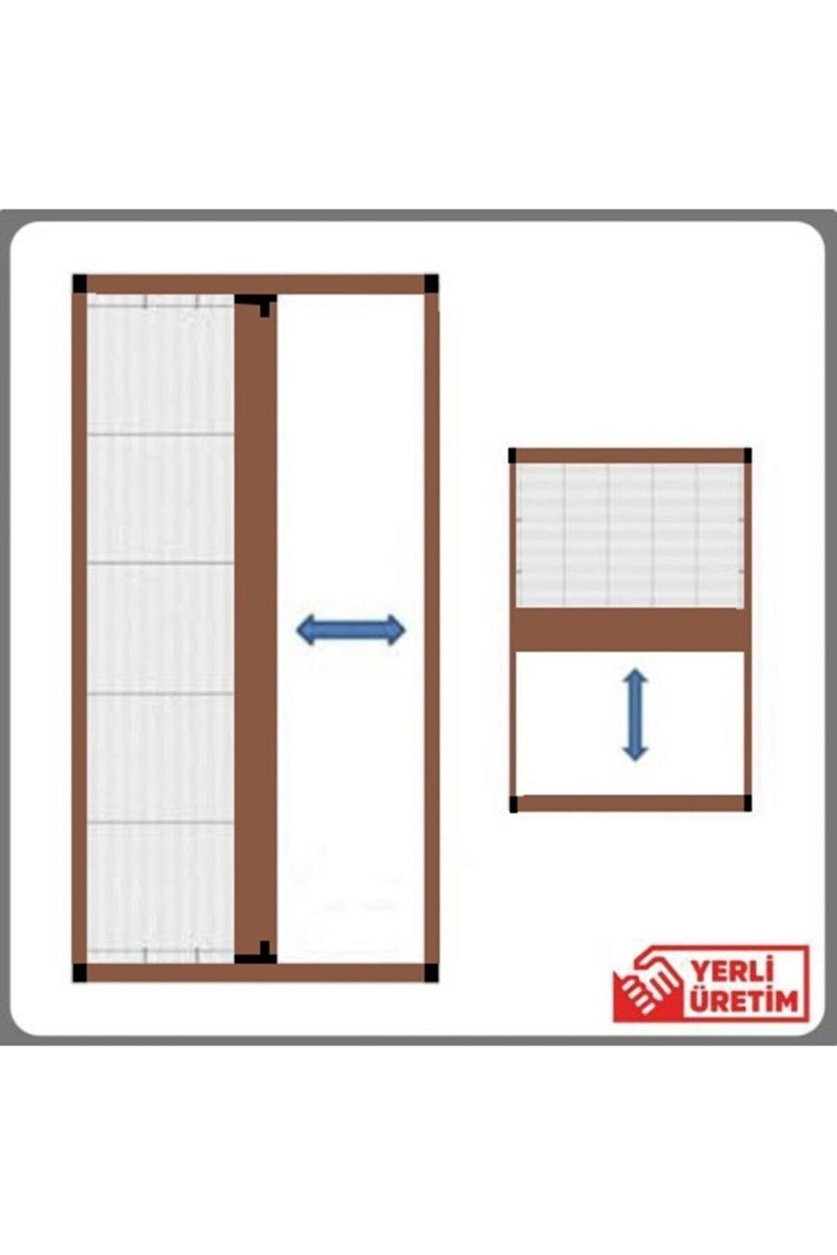 KARABEYOĞULLARI Açık Kahverengi Plise Sineklik Akordiyon Sürgülü Pileli Sineklik Kapı Ve Pencere 40-60x40-60