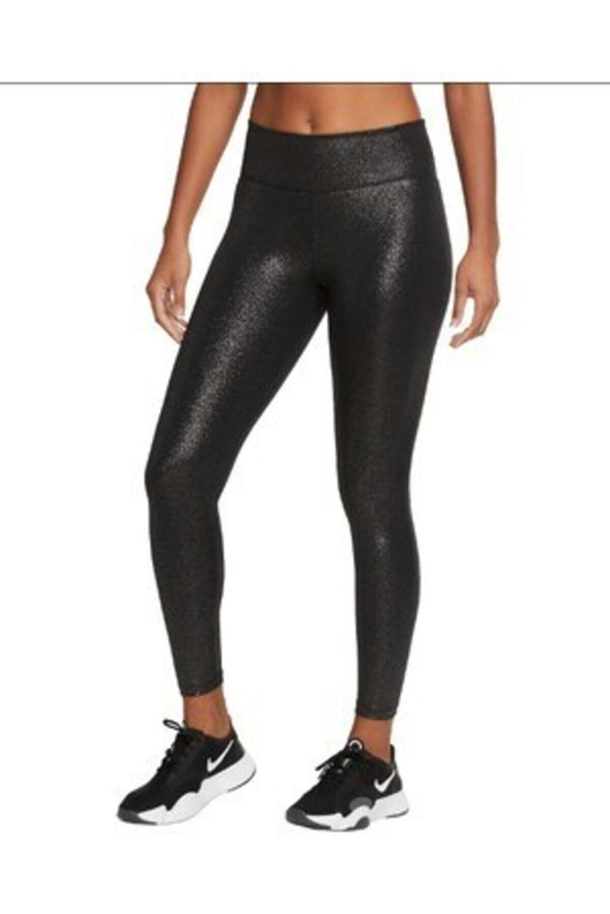 Nike Kadın SiyAH One Sparkle 7/8 Leggings Tayt Cu5952-010