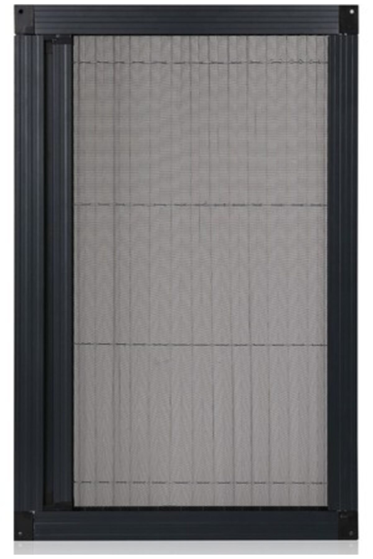 KARABEYOĞULLARI Antrasit Siyah Plise Sineklik Akordiyon Sürgülü Pileli Sineklik Kapı Ve Pencere 40-60x40-60