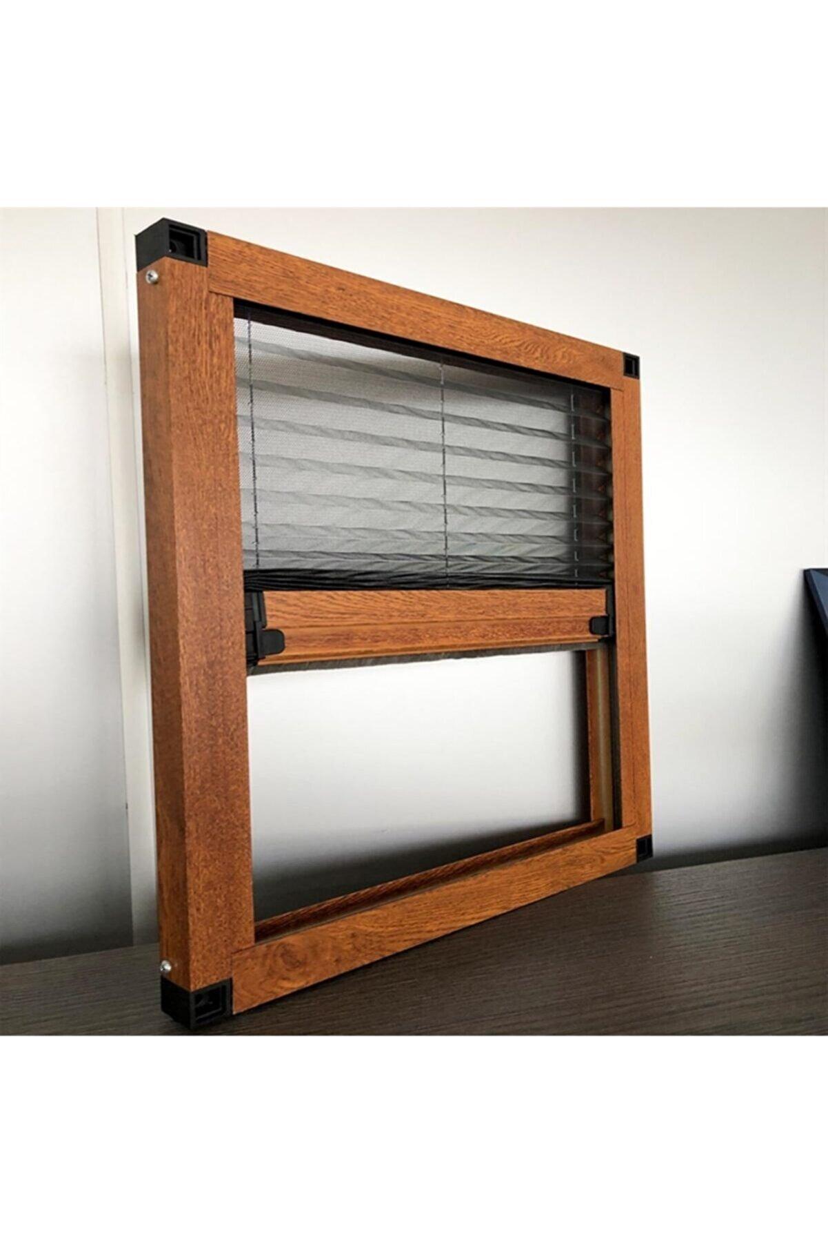 KARABEYOĞULLARI Ahşap Kaplama Plise Sineklik Akordiyon Sürgülü Pileli Sineklik Kapı Ve Pencere 40-60x40-60