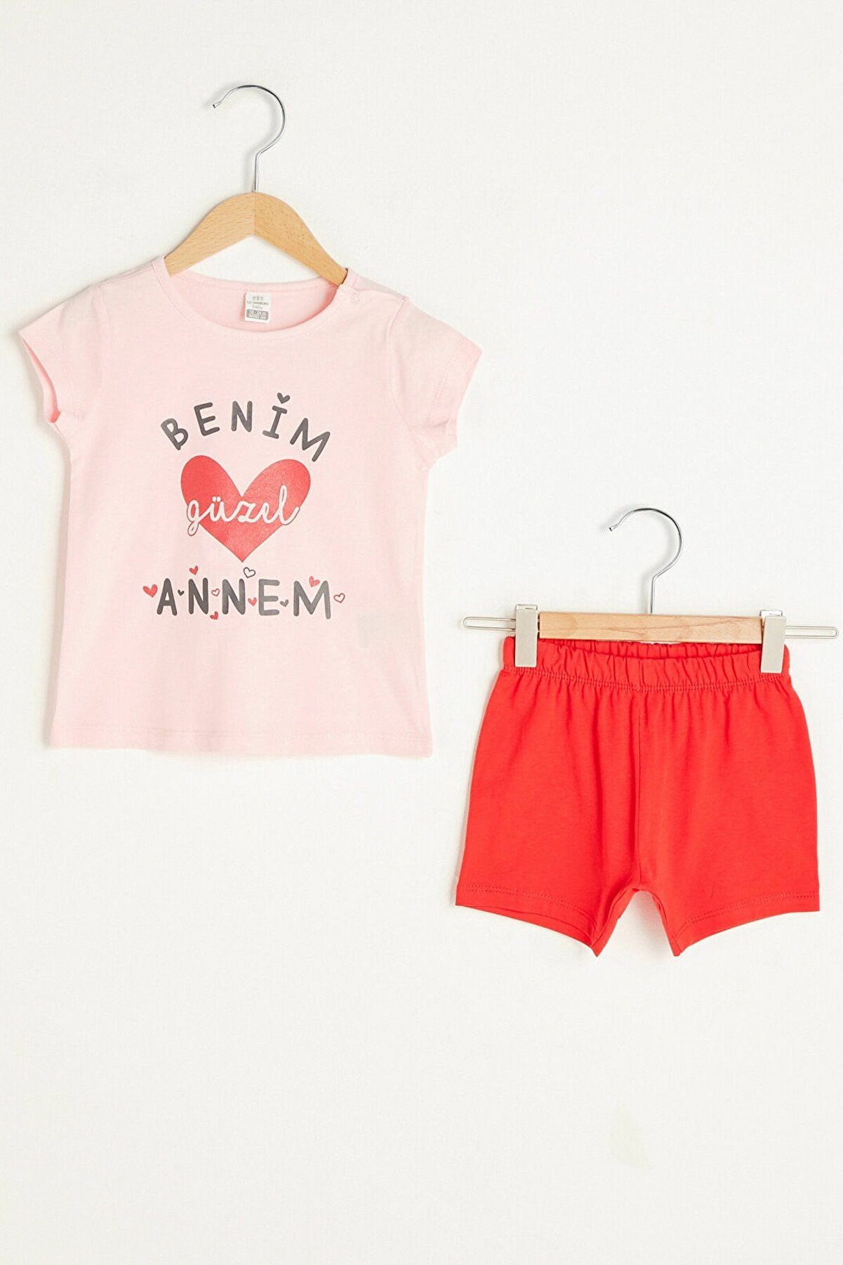 LC Waikiki Kız Bebek Pembe Fvb Pijama Takımı