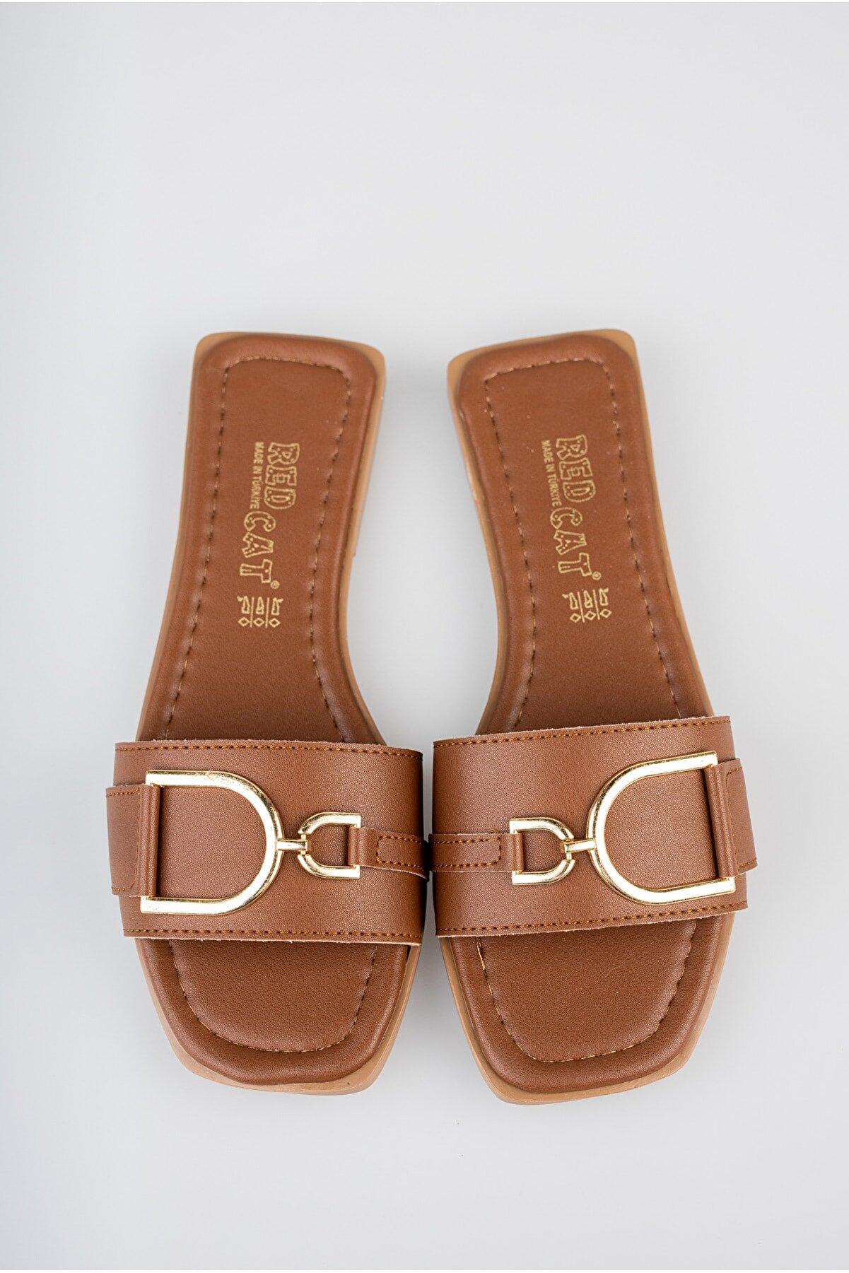 Diardi Kadın Kahverengi Sandalet Terlik