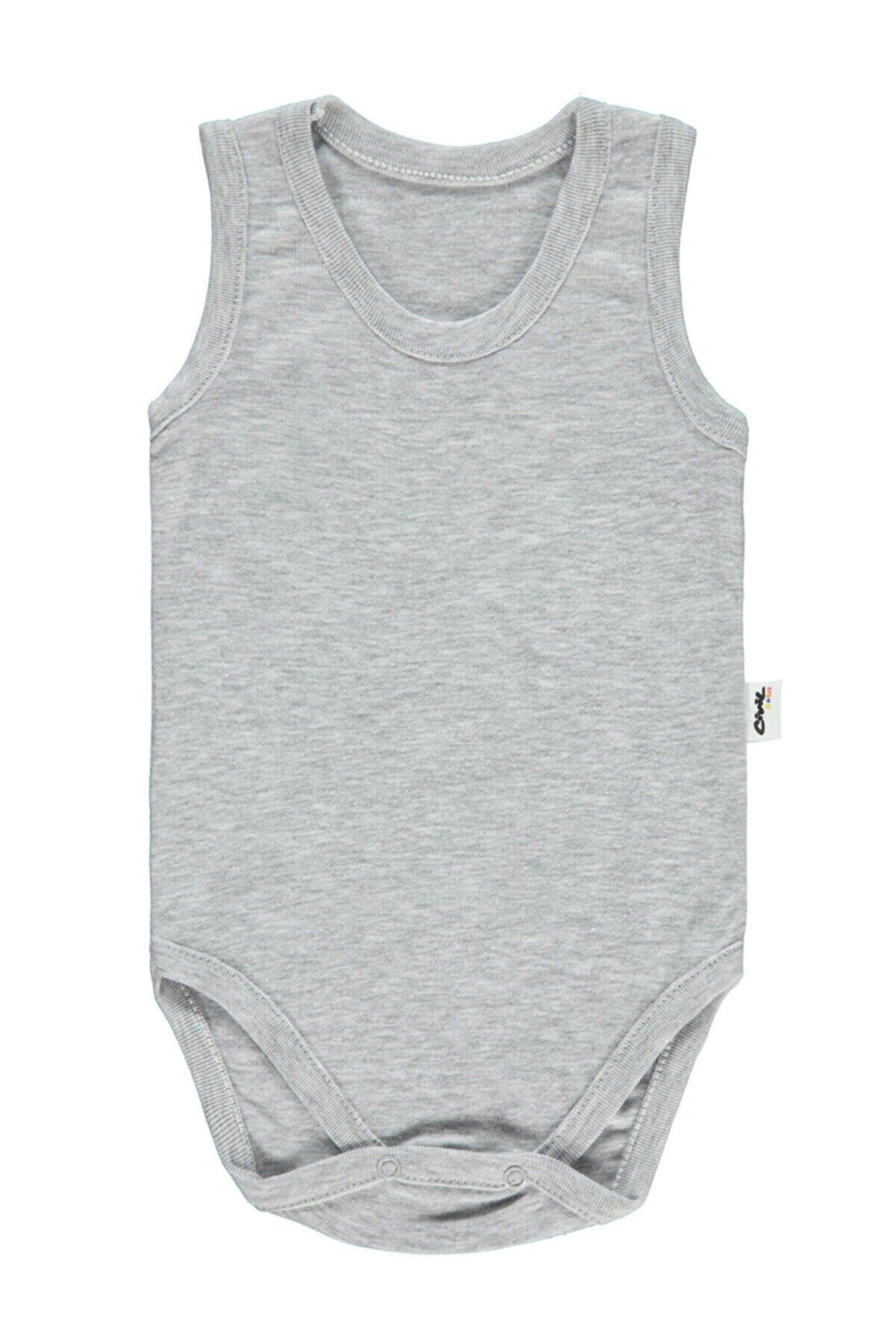 Civil Baby Bebek Çıtçıtlı Badi Gri