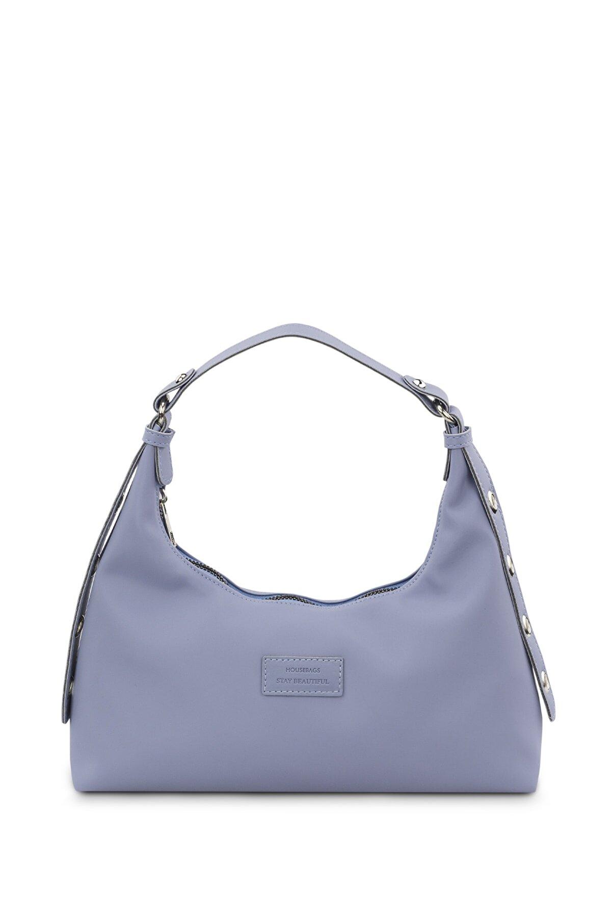 Housebags Kadın Mavi Baguette Çanta 205