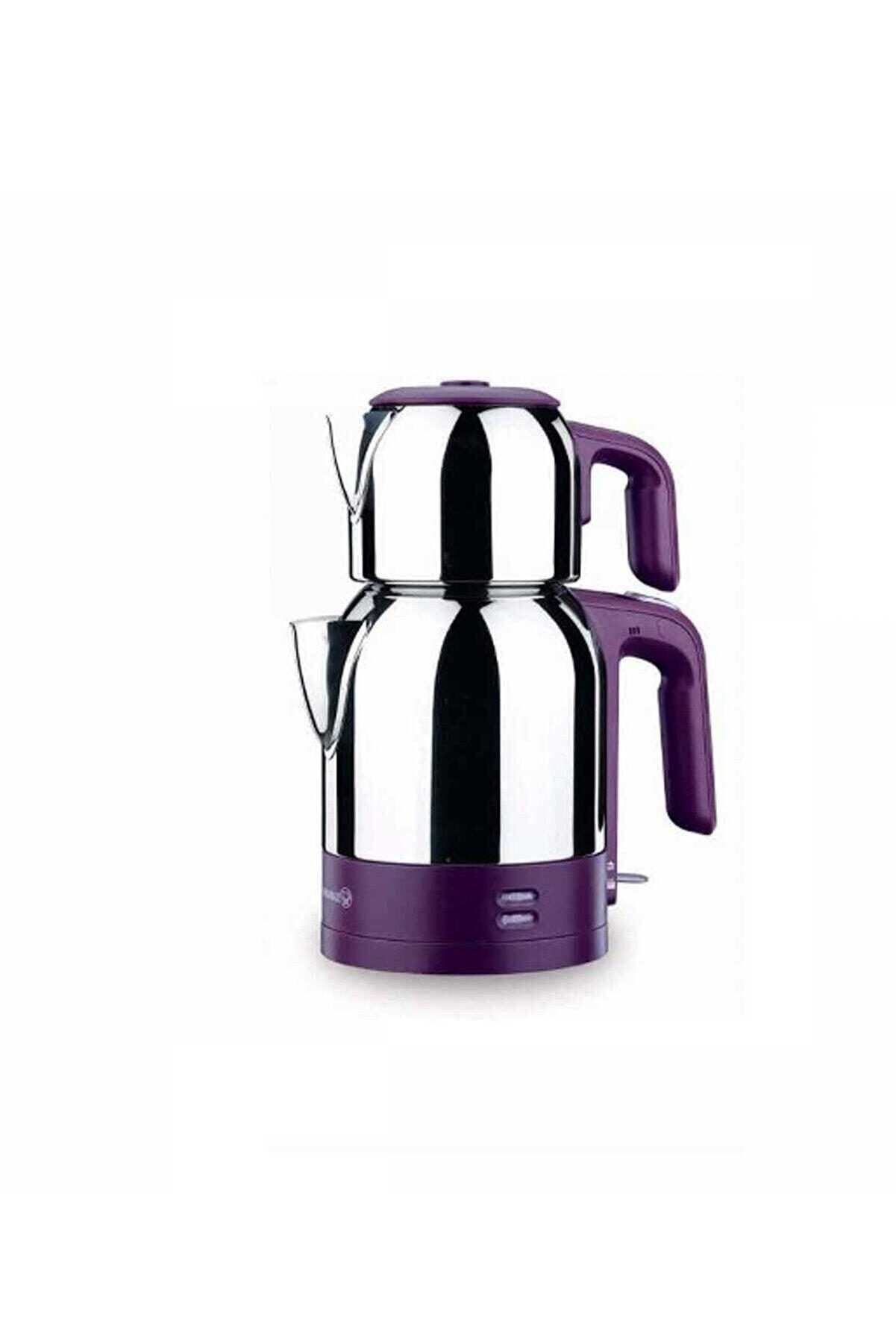 KORKMAZ A359-01 Demkolik Inox/violet Elektrikli Çaydanlık