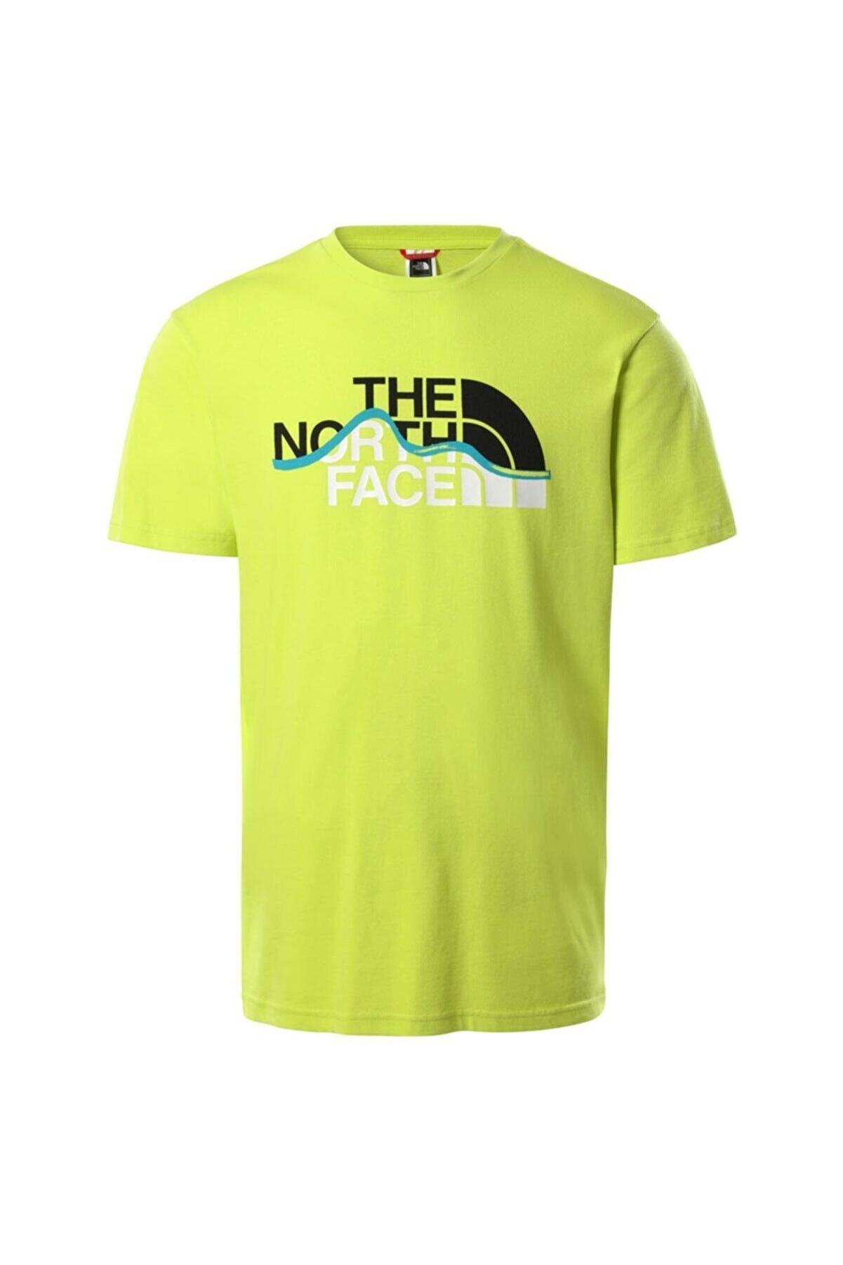 The North Face Nf00a3g2je31 M S-s Mountaın Lıne Tee - Eu Erkek T-shirt