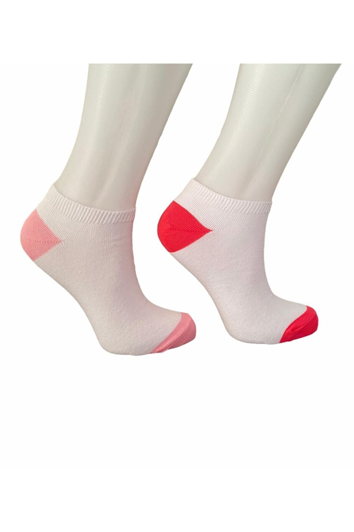 NEWSOCKS Kadın Topuk Burun Renkli Patik 2'li