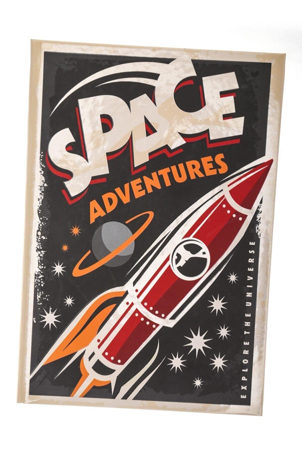 PASİFİK HOME Space Adventures Orta Boy Lastikli Ve Çizgisiz Özel Tasarım Defter