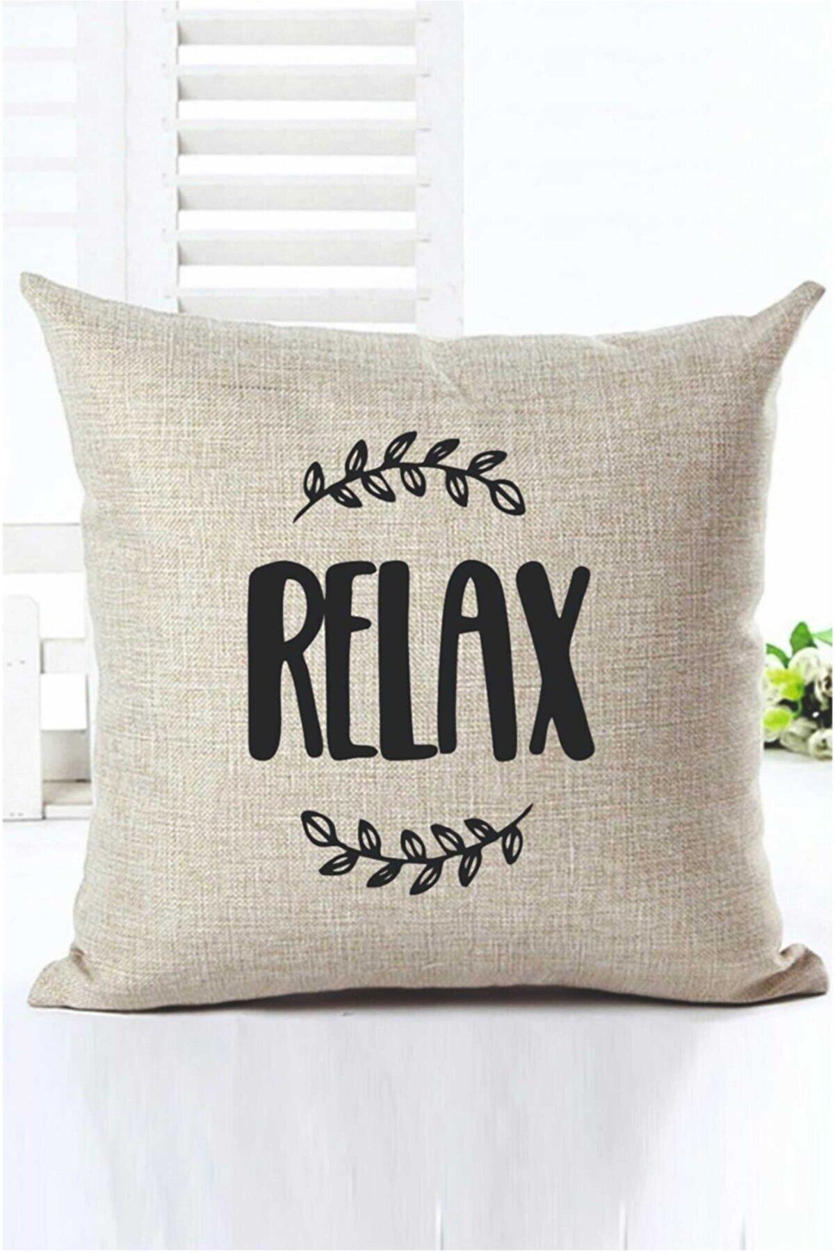 H&E DESIGN Relax Desenli Dekoratif Kırlent Kılıfı Kr00010
