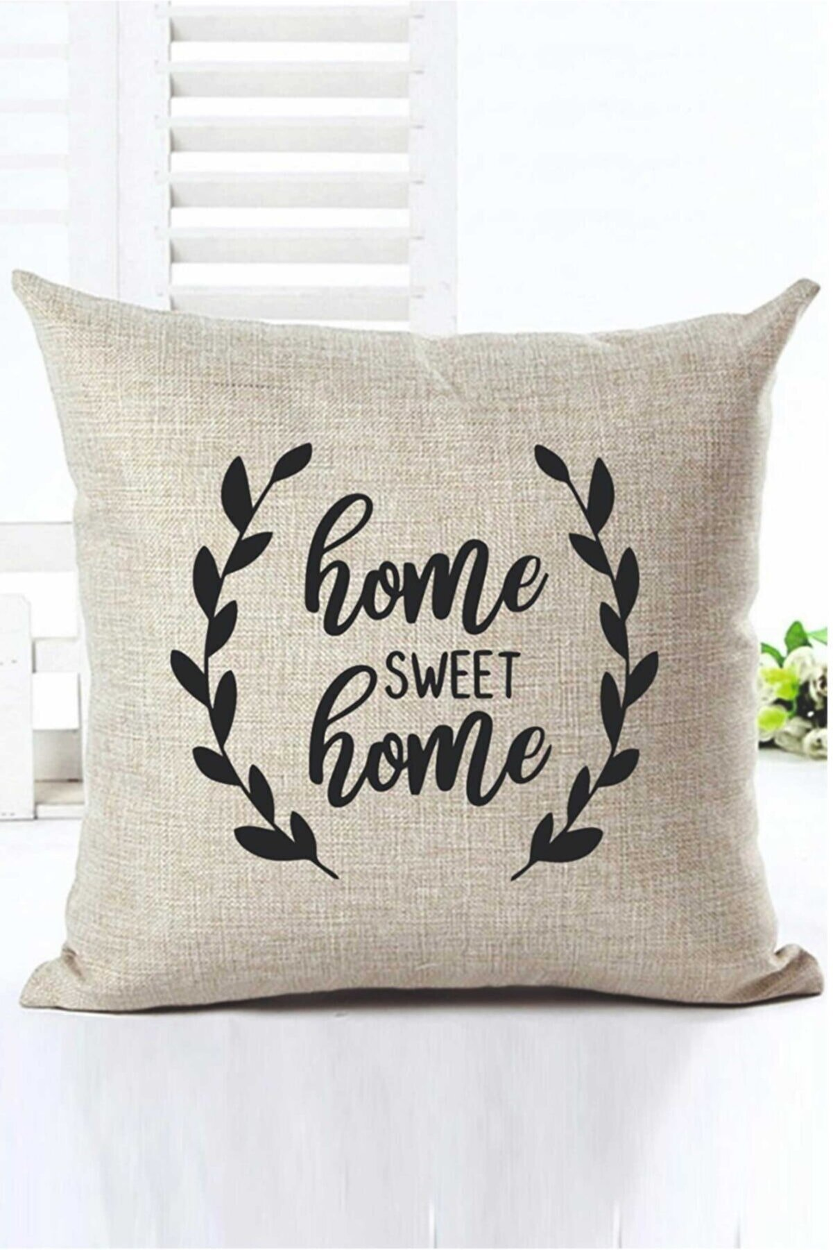 H&E DESIGN Home Sweet Home Dekoratif Kırlent Kılıfı Kr00012