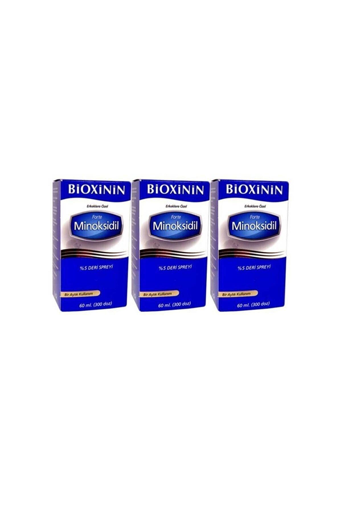 Bioxcin Bioxinin Forte Minoksidil %5 Deri Spreyi 60 ml 3 Adet Bıoxin