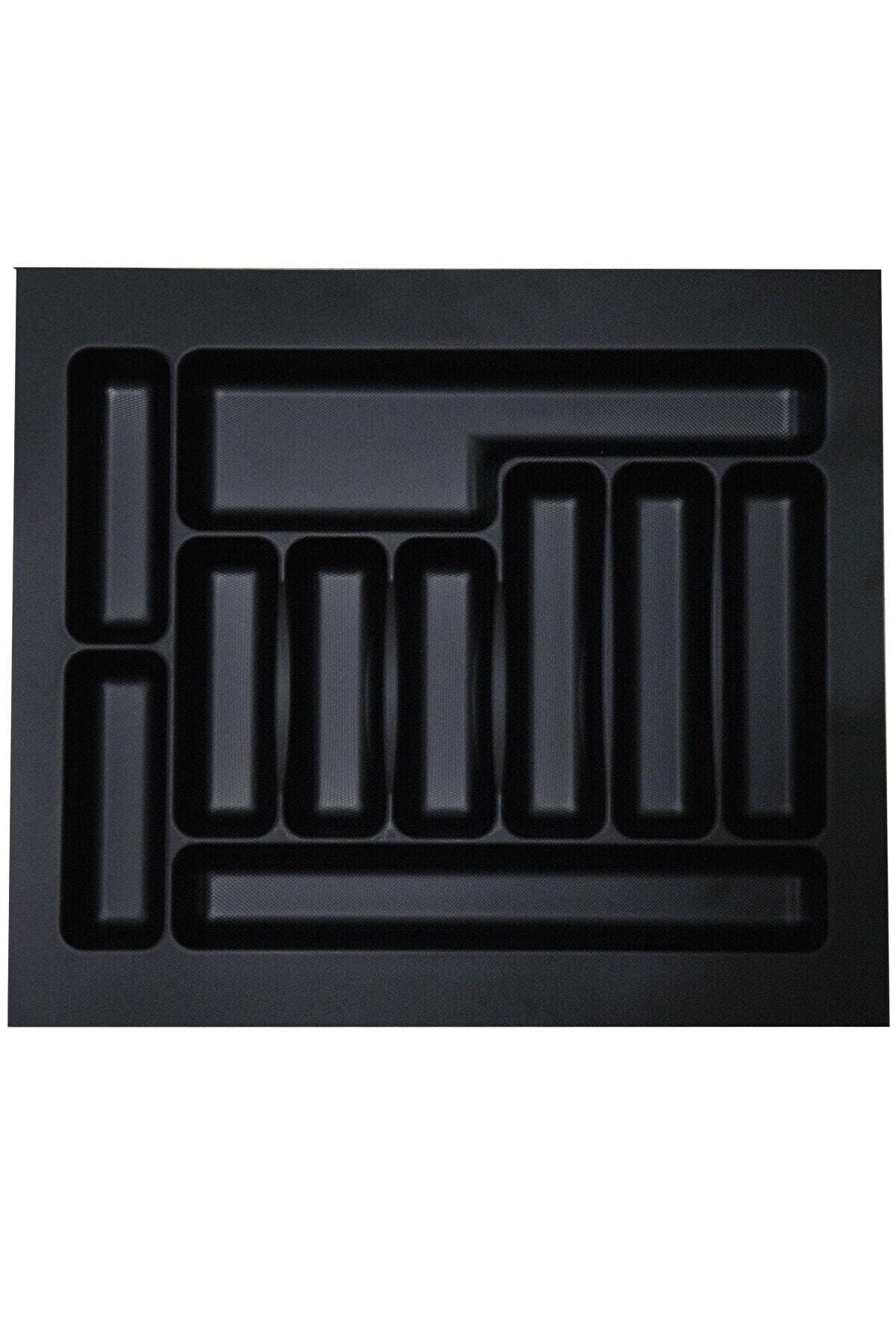 İNTERİO 55 Cm X 49 Cm Çekmece Içi Kaşıklık Siyah 50x40'a Kadar Kesilebilir