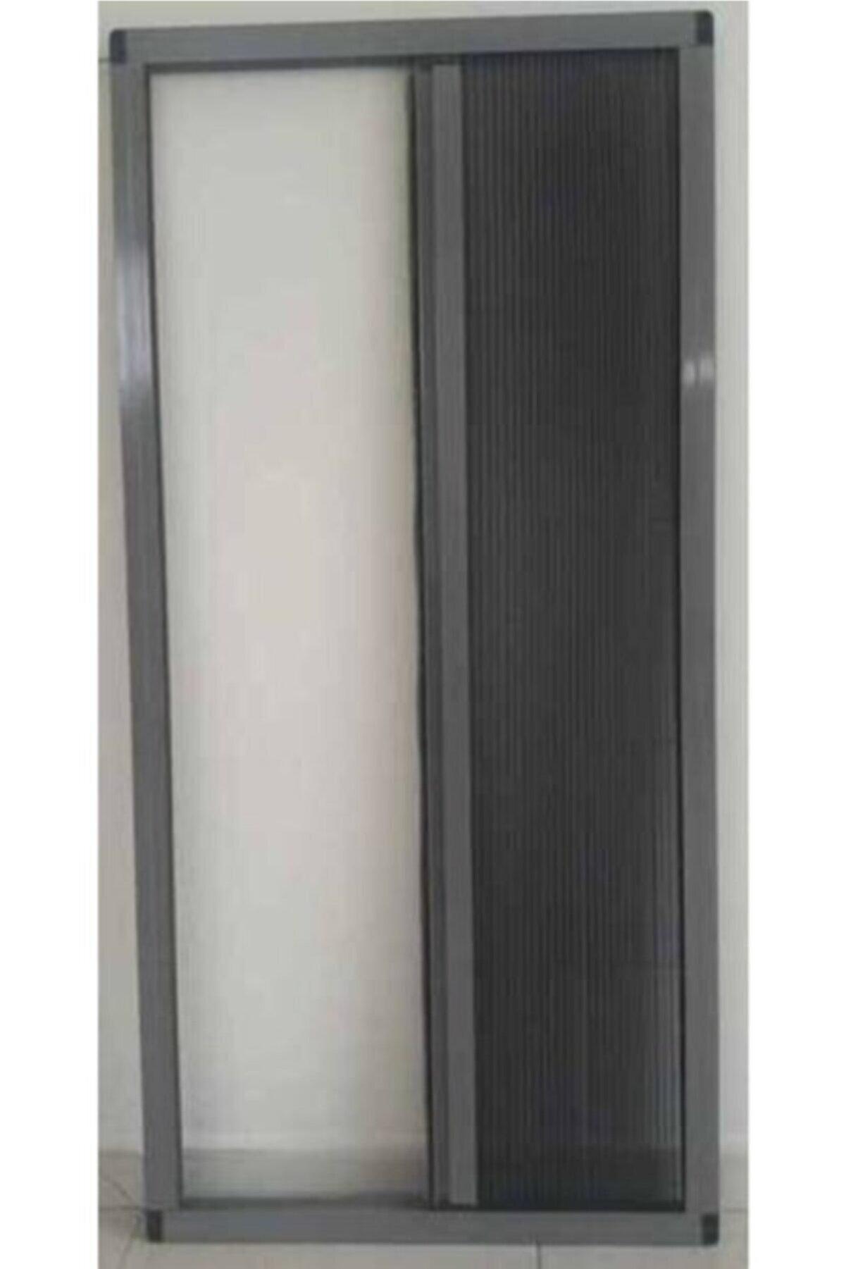 KARABEYOĞULLARI Antrasit Gri Plise Sineklik Akordiyon Sürgülü Pileli Sineklik Kapı Ve Pencere 40-60x40-60