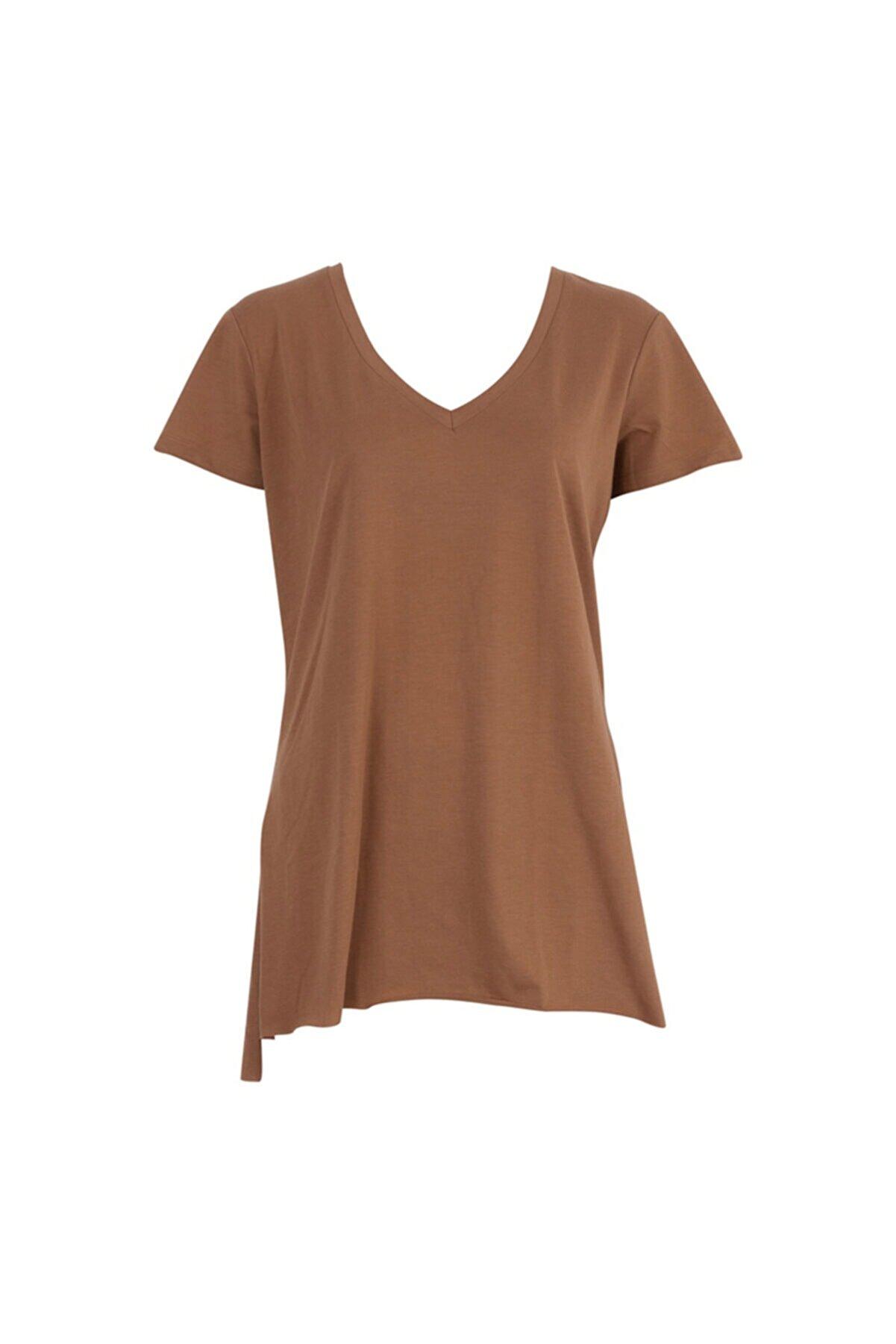 Only Kadın Kahverengi Salaş Tişört