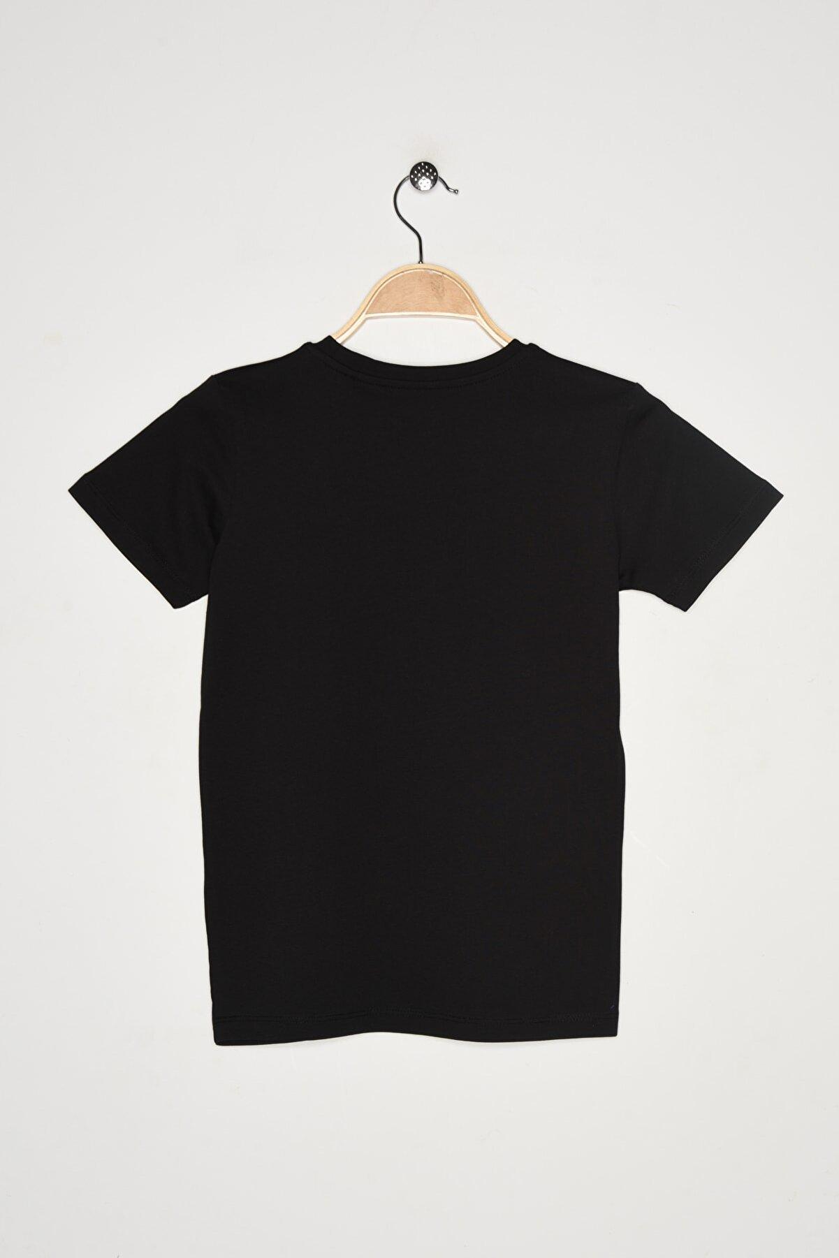 New Balance Çocuk Spor T-Shirt - KTT916-BK