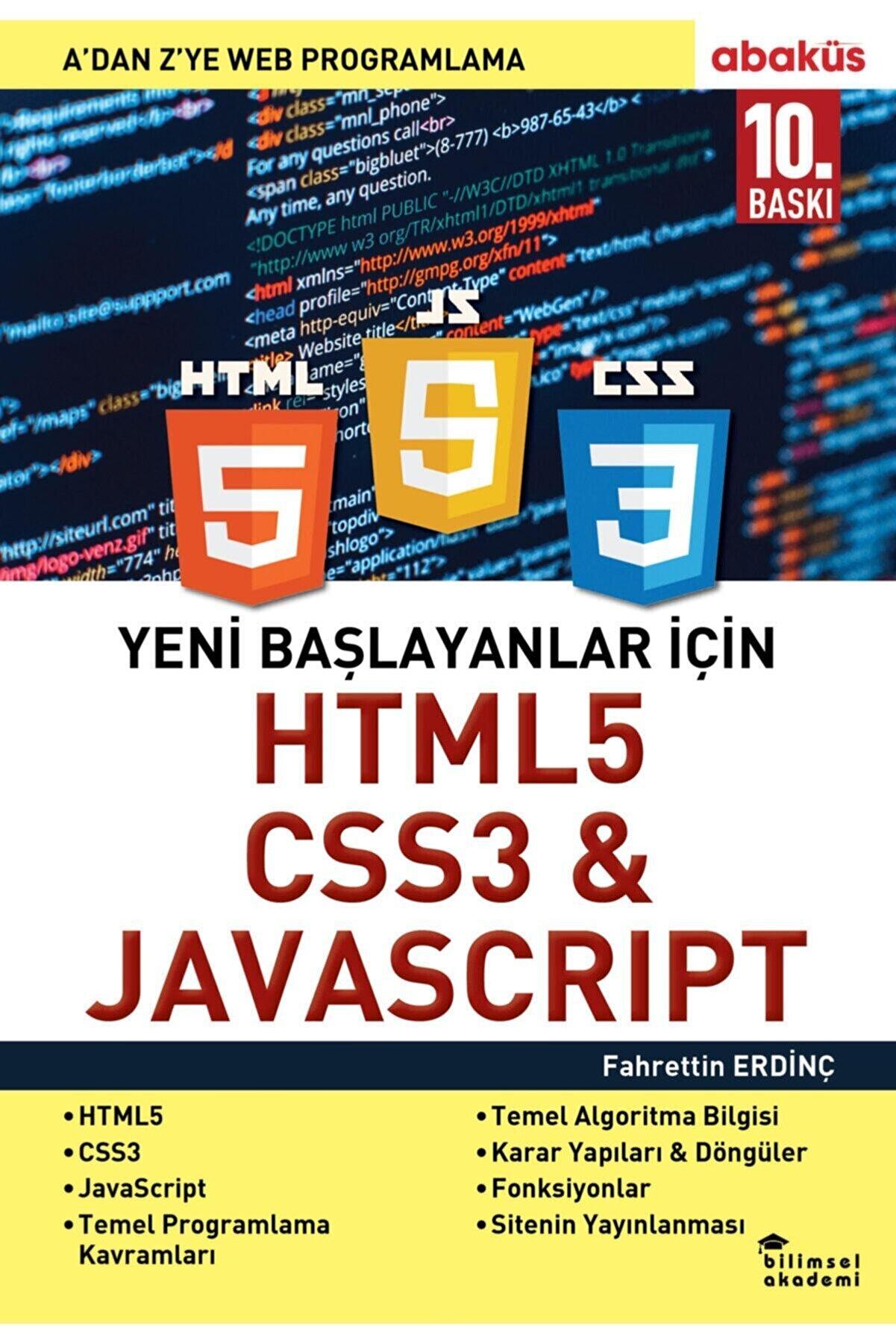 Abaküs Kitap Yeni Başlayanlar Için Html5, Css3 Ve Javascript A Dan Z Ye Web Programlama