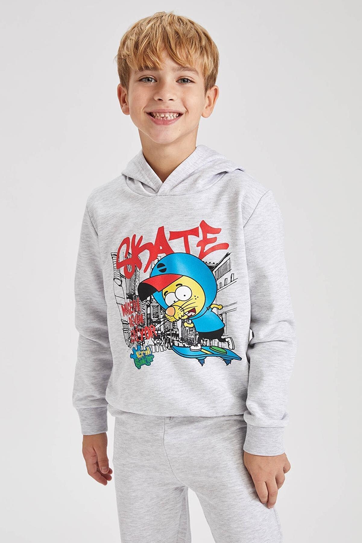 Defacto Erkek Çocuk Kral Şakir Lisanslı Sweatshirt