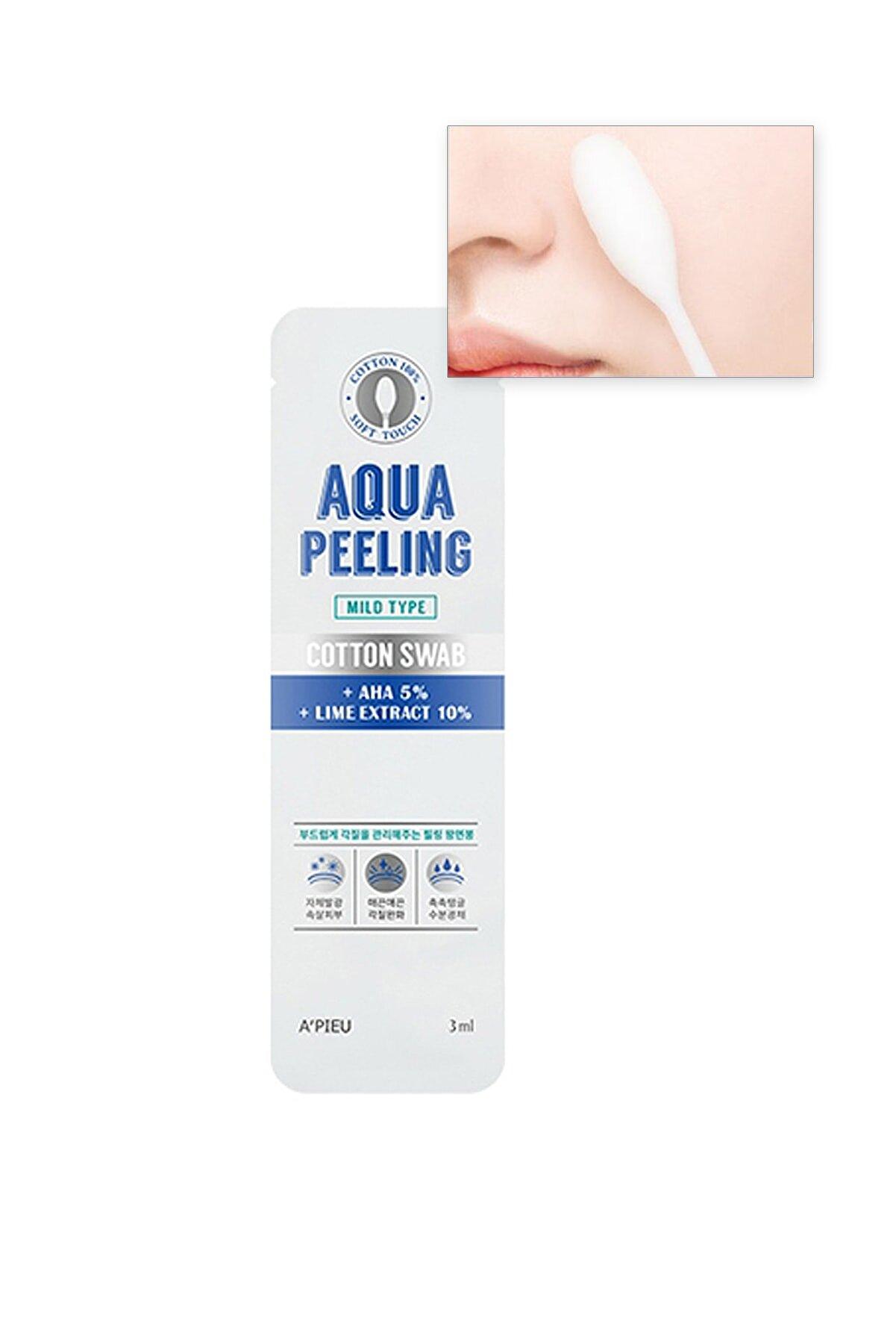Missha %100 Pamuk Peeling Çubuğu (Hafif) APIEU Aqua Peeling Cotton Swab (Mild)
