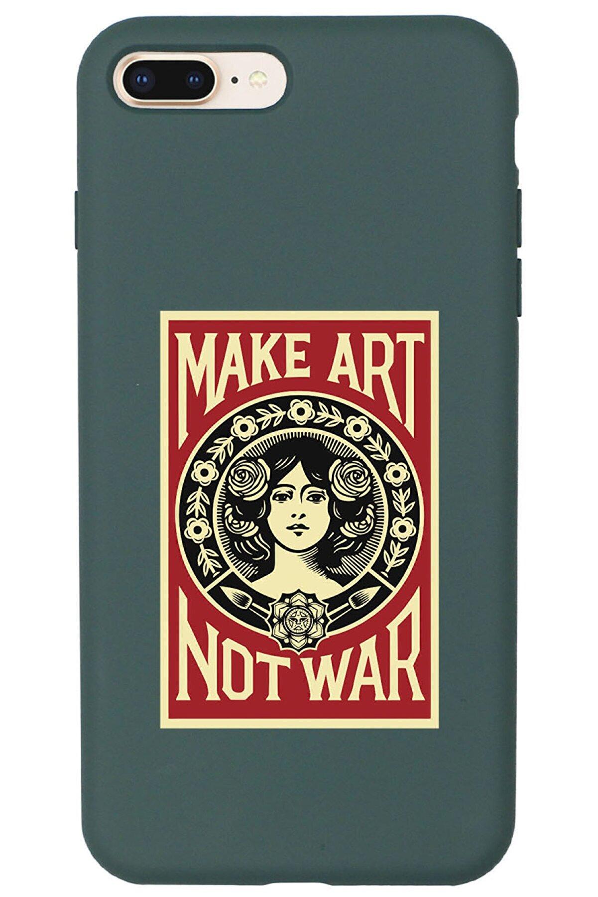 shoptocase Iphone 7 Plus Lansman Make Art Not War Desenli Telefon Kılıfı