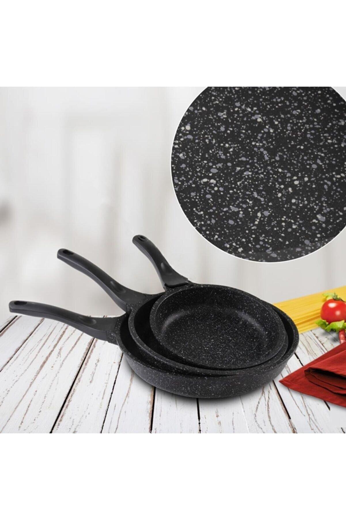 Falez Pan 3lu Döküm Tava Black