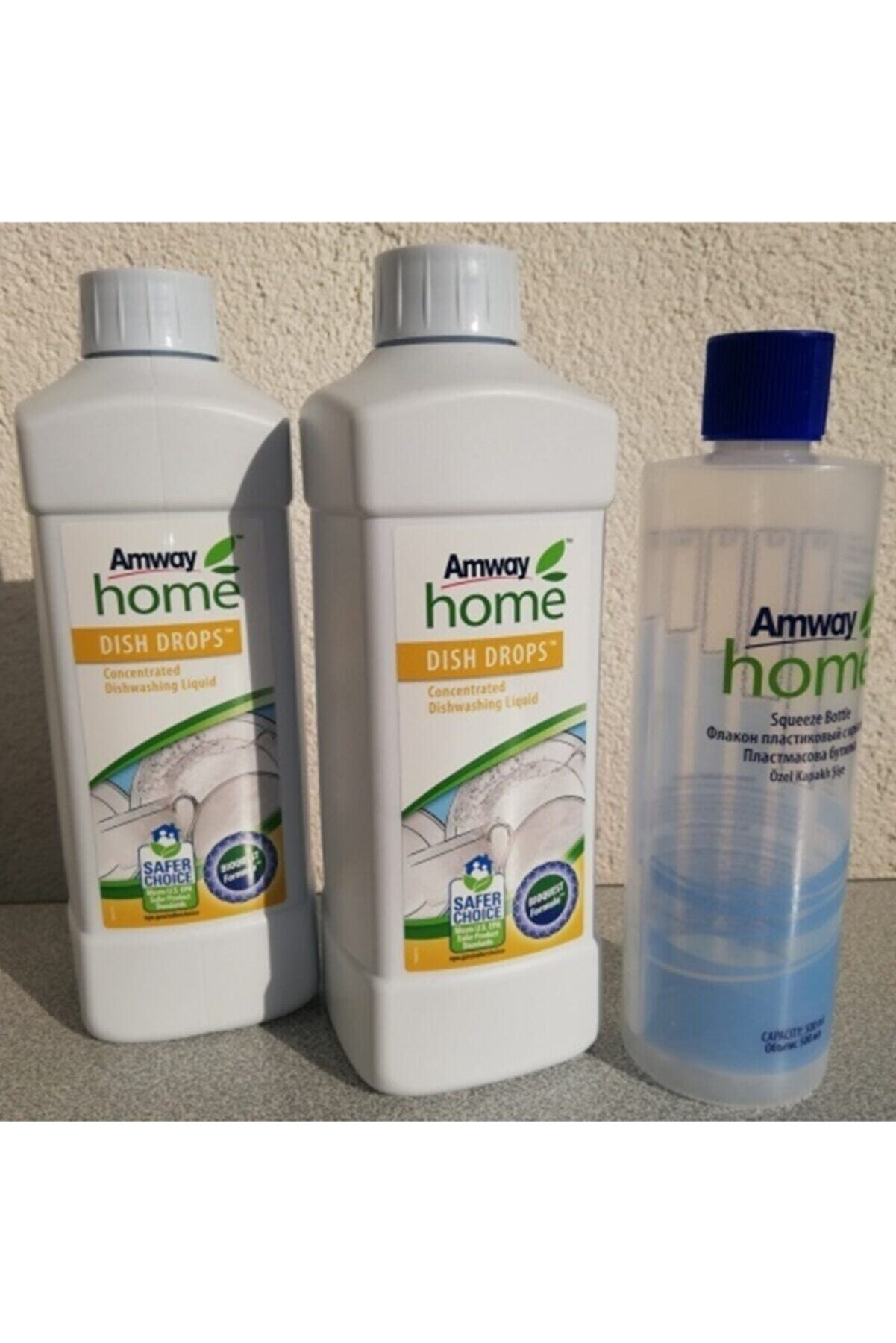 Amway 2 Adet Dısh Drops Konsantre Sıvı Bulaşık Deterjanı + 1 Adet Özel Kapaklı Şişe Hediye