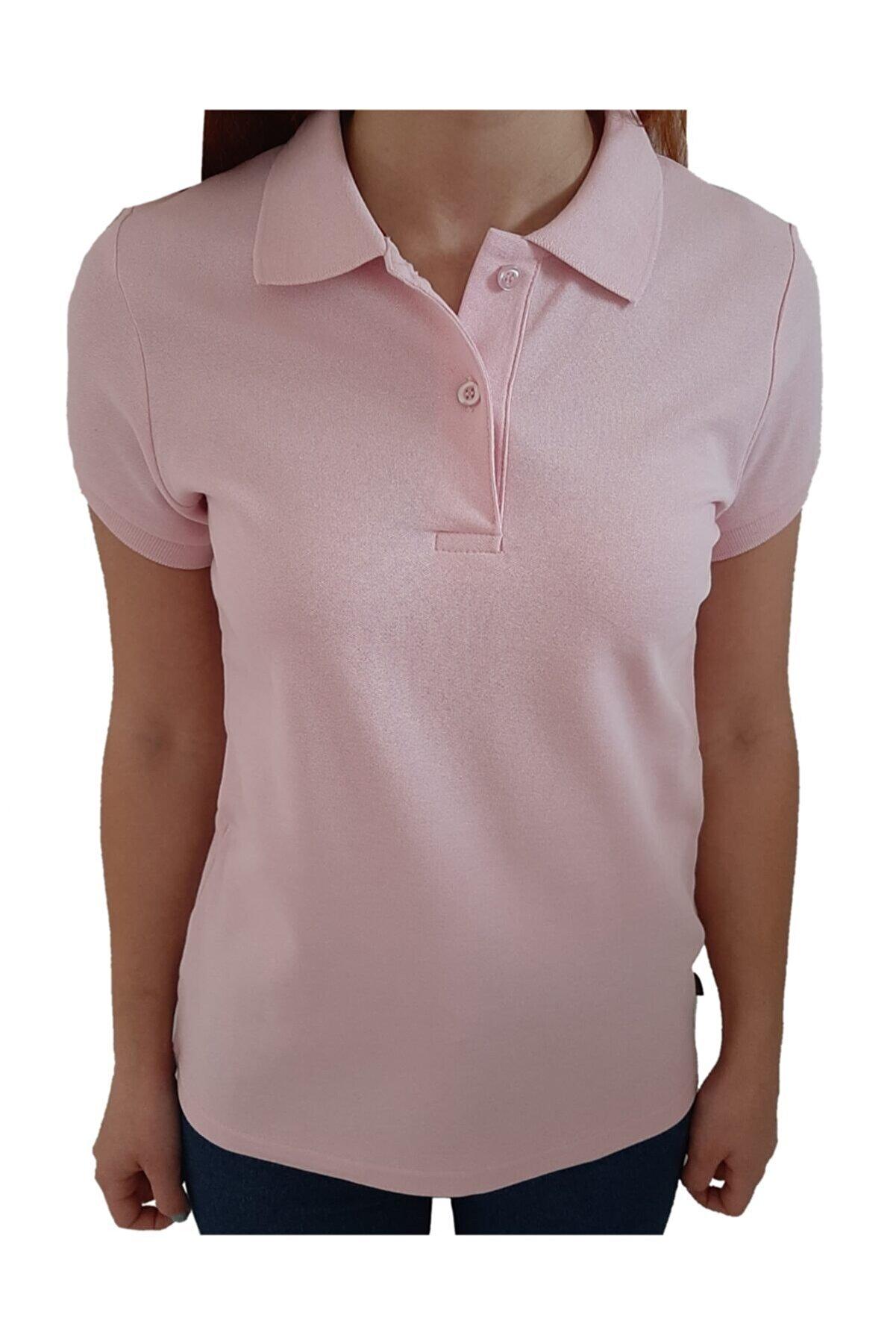 uniformax Kadın Polo Yaka Tişört %100 Pamuk
