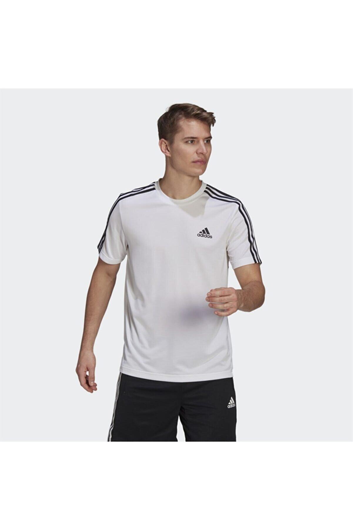 adidas Erkek Beyaz Kısa Kollu T-shirt