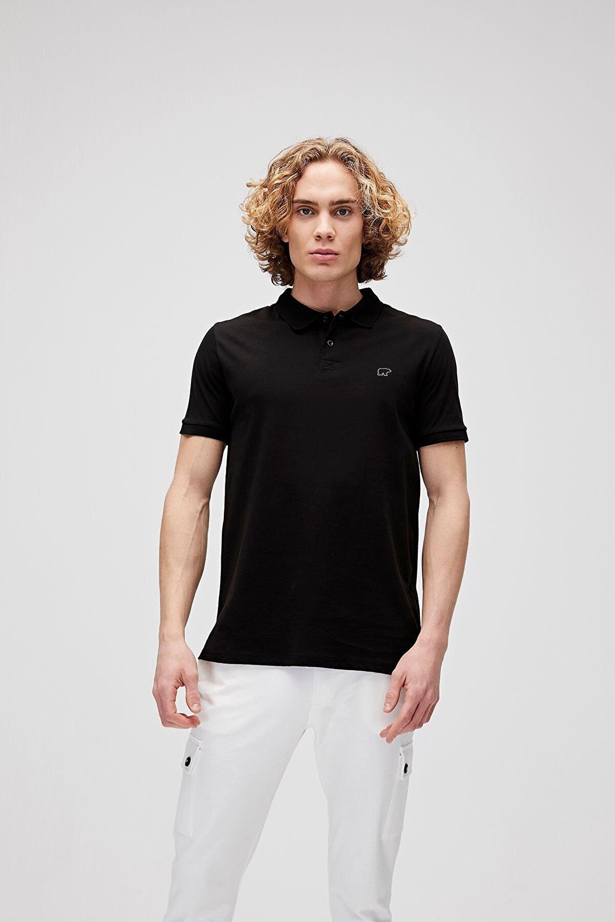 Bad Bear Erkek Siyah Polo Yaka T-shirt