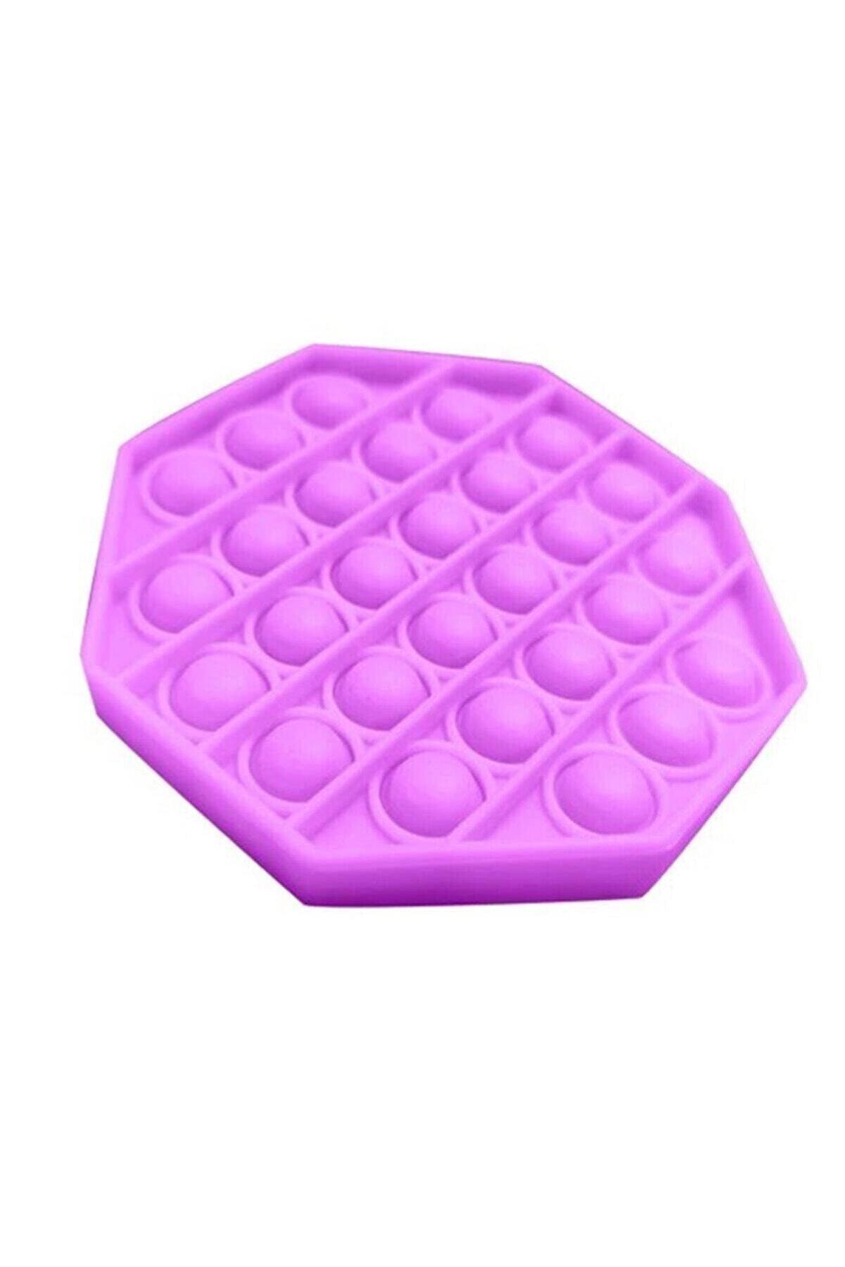 Başel Toys Pop It Push Bubble Fidget Özel Pop Duyusal Oyuncak Zihinsel Stres ( Mor Renk, Sekizgen )