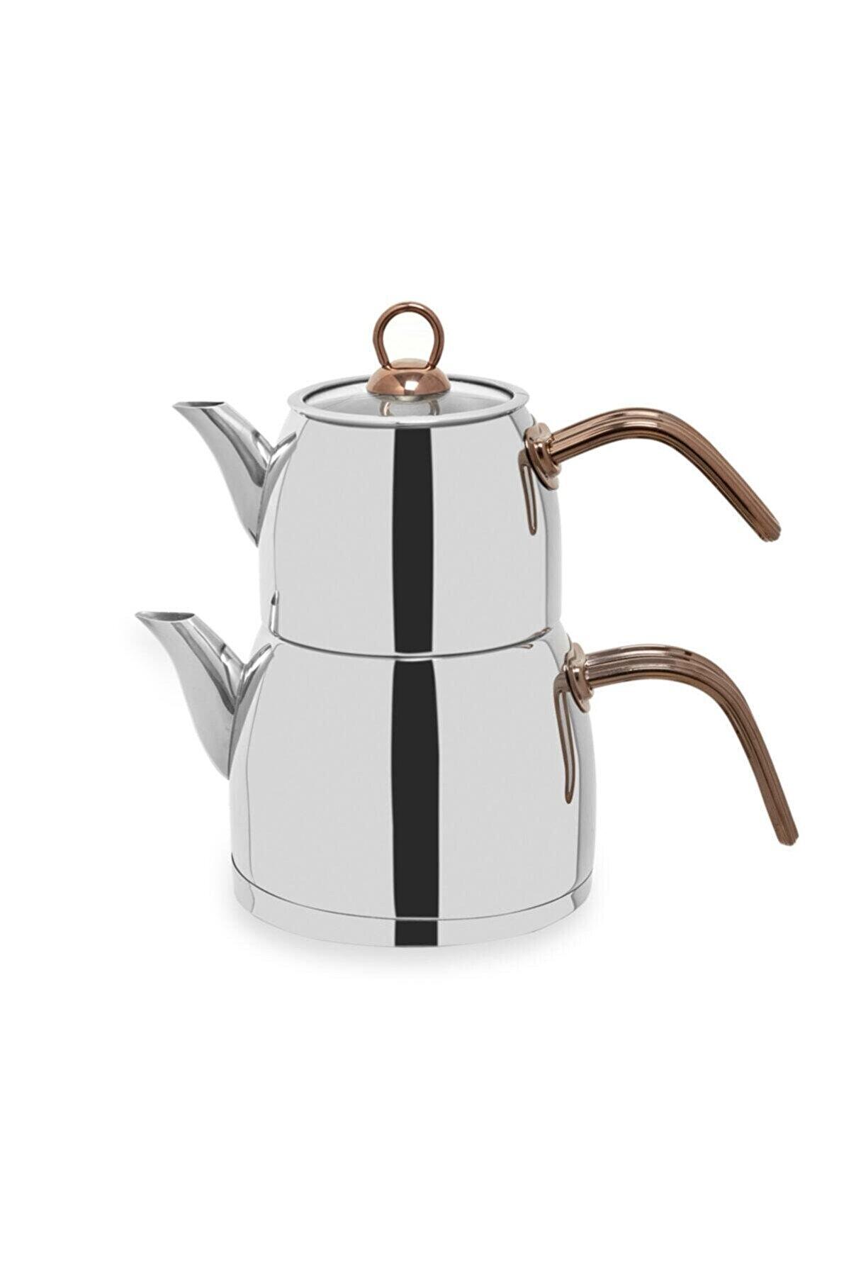 Falez Çaykolik Orta Boy Çaydanlık - Bakır