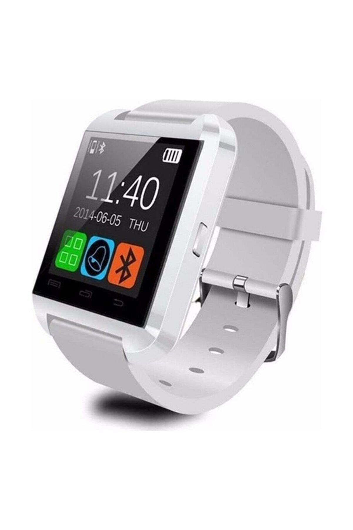 Polygold U8 Akıllı Saat Smart Watch Ios Ve Android Uyumlu Bluetooth Saat Beyaz