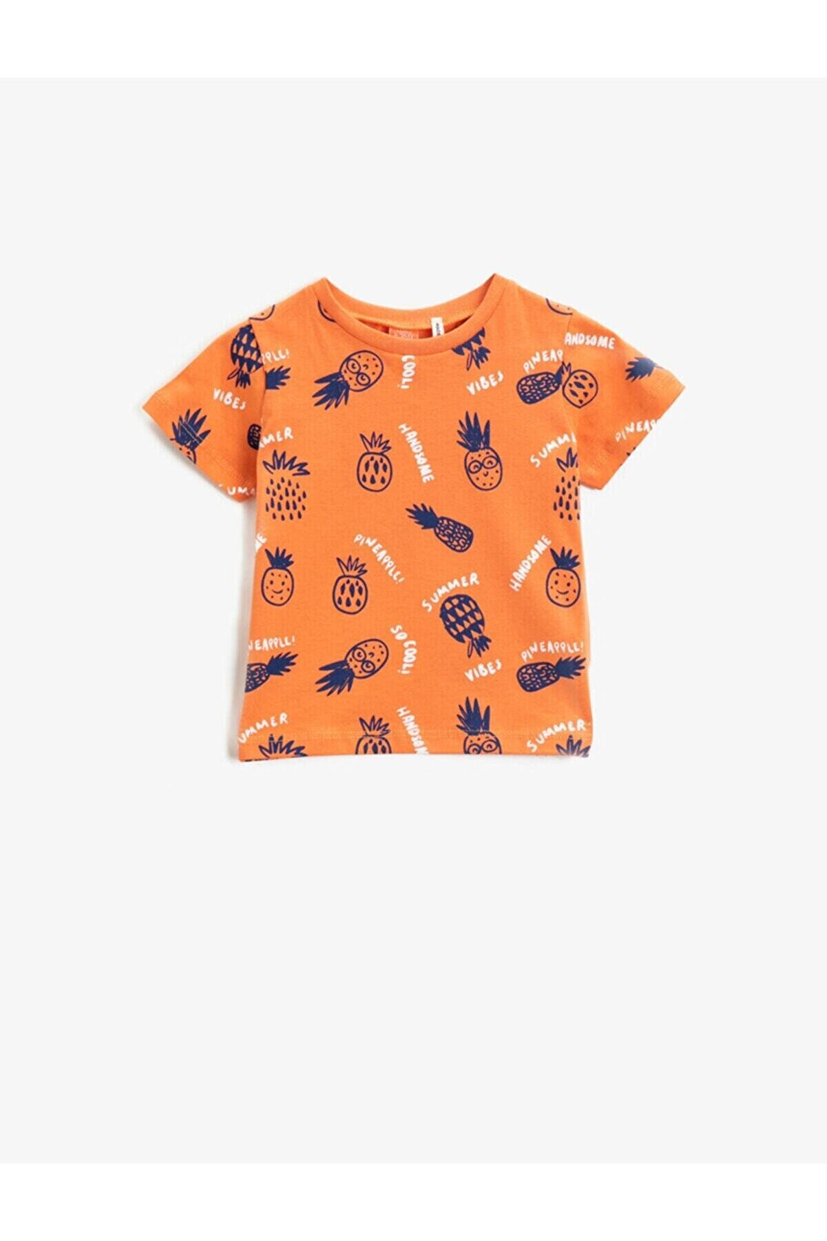 Koton Erkek Bebek Turuncu  T-Shirt