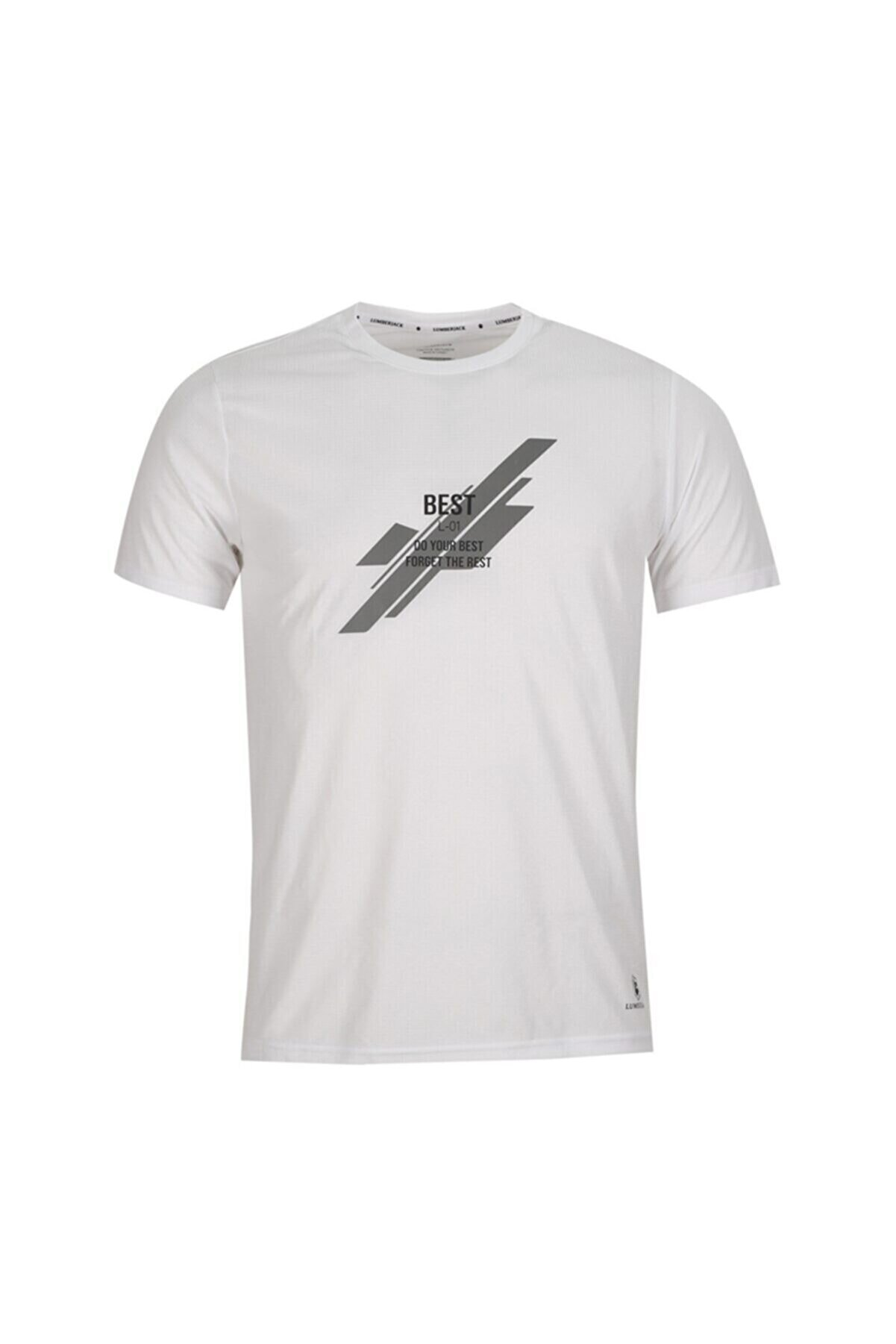 Lumberjack CT213 BOWIE SLOGAN T-SHIR Beyaz Erkek T-Shirt 100582347