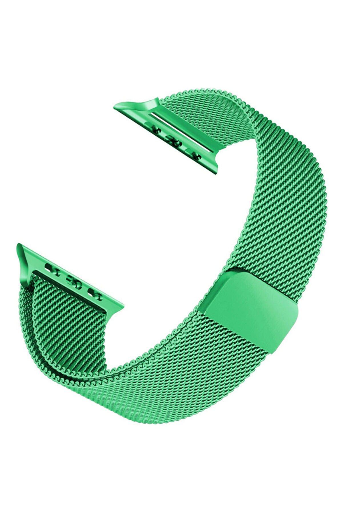 Apple Microsonic Watch 4 44mm Milanese Loop Version 3 Kordon Yeşil