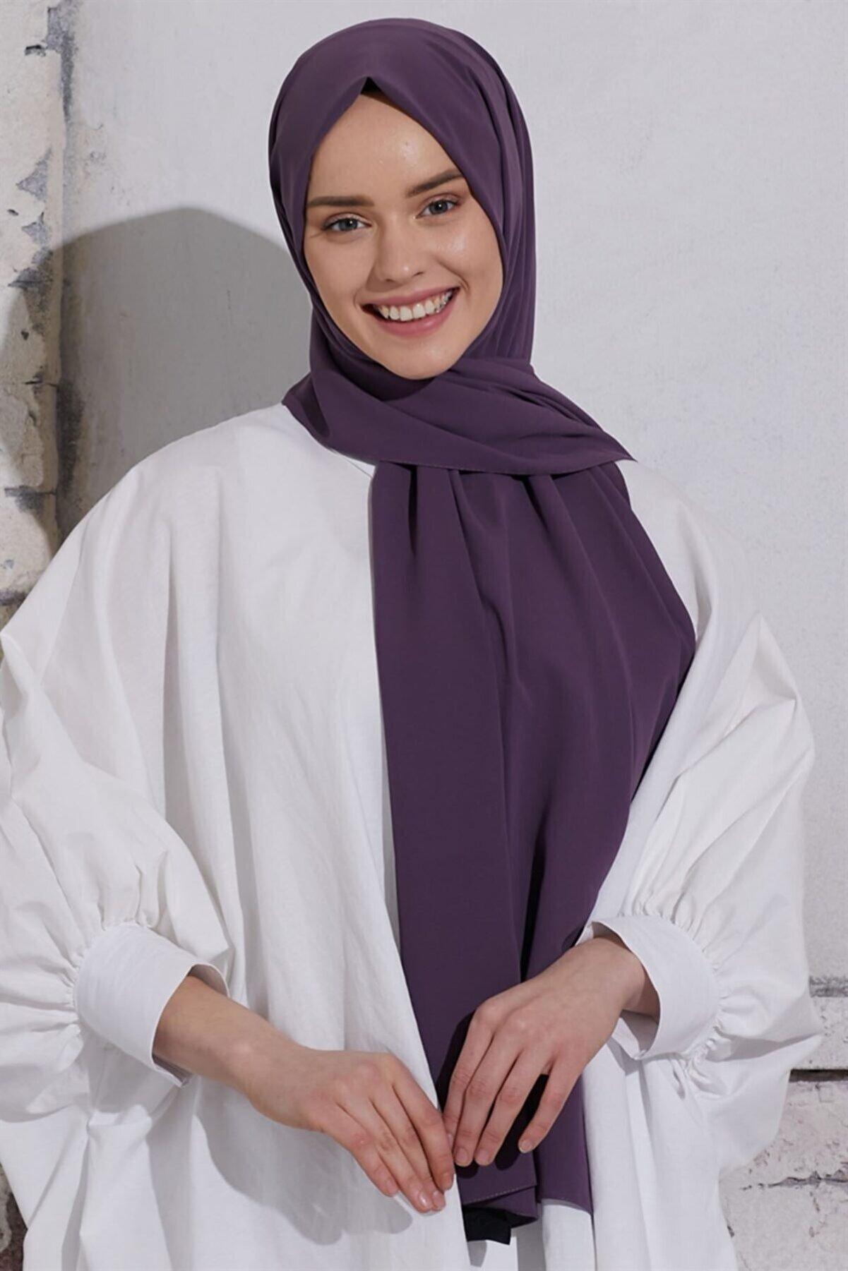 ModaSima Düz Medine Ipeği Şal
