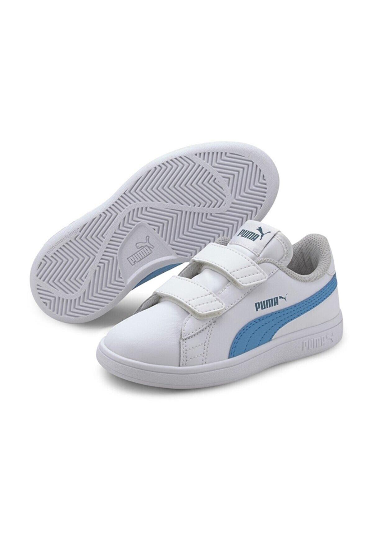 Puma SMASH V2 L V PS Beyaz Erkek Çocuk Sneaker Ayakkabı 101119213
