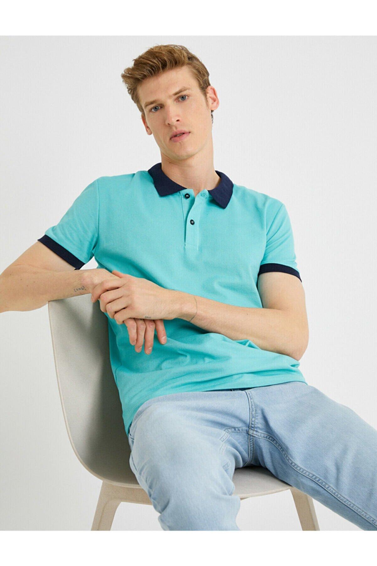 Koton Erkek A.Yeşil Polo Yaka T-Shirt