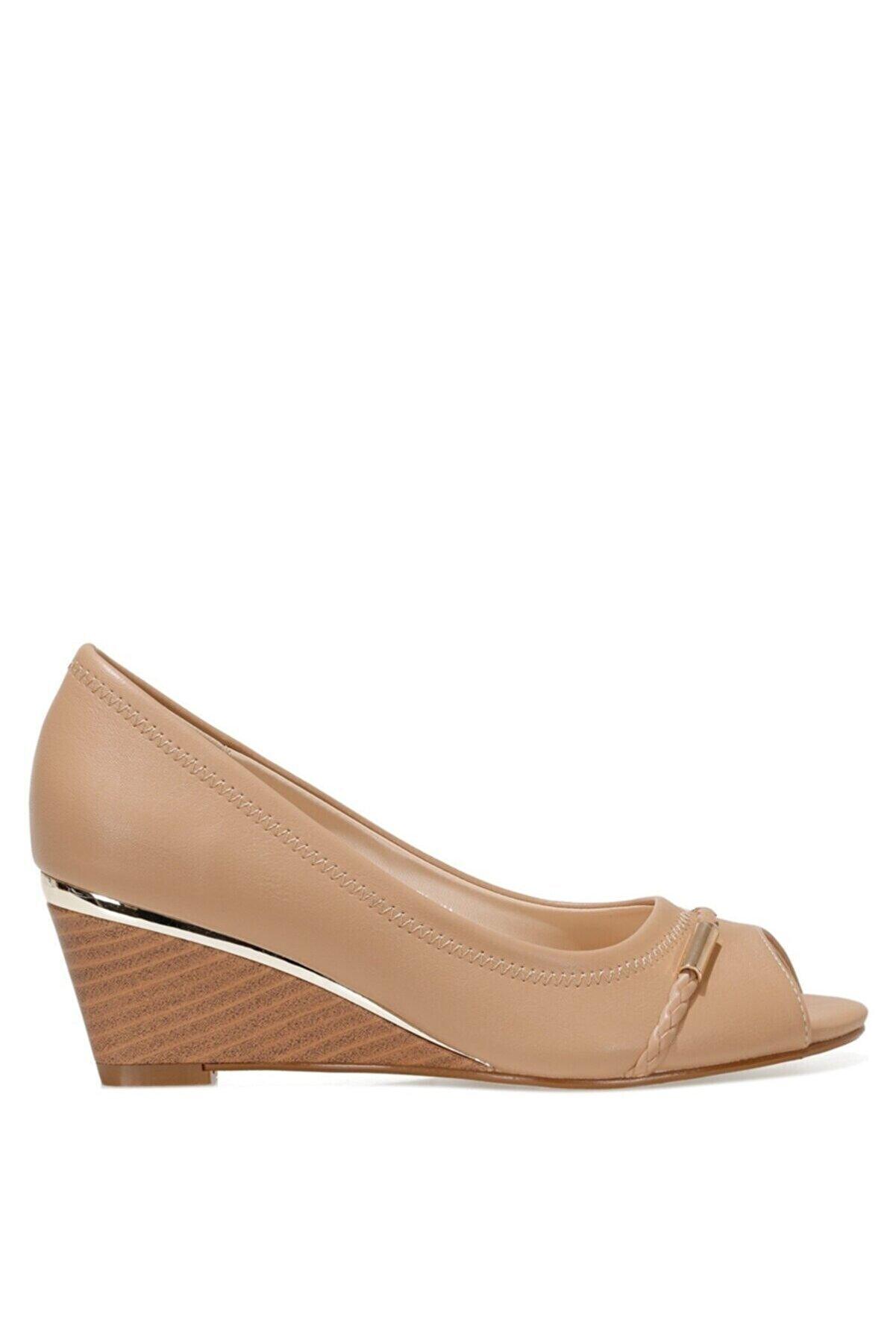 Nine West BIRENNA 1FX NUDE Kadın Dolgu Topuklu Ayakkabı 101027429