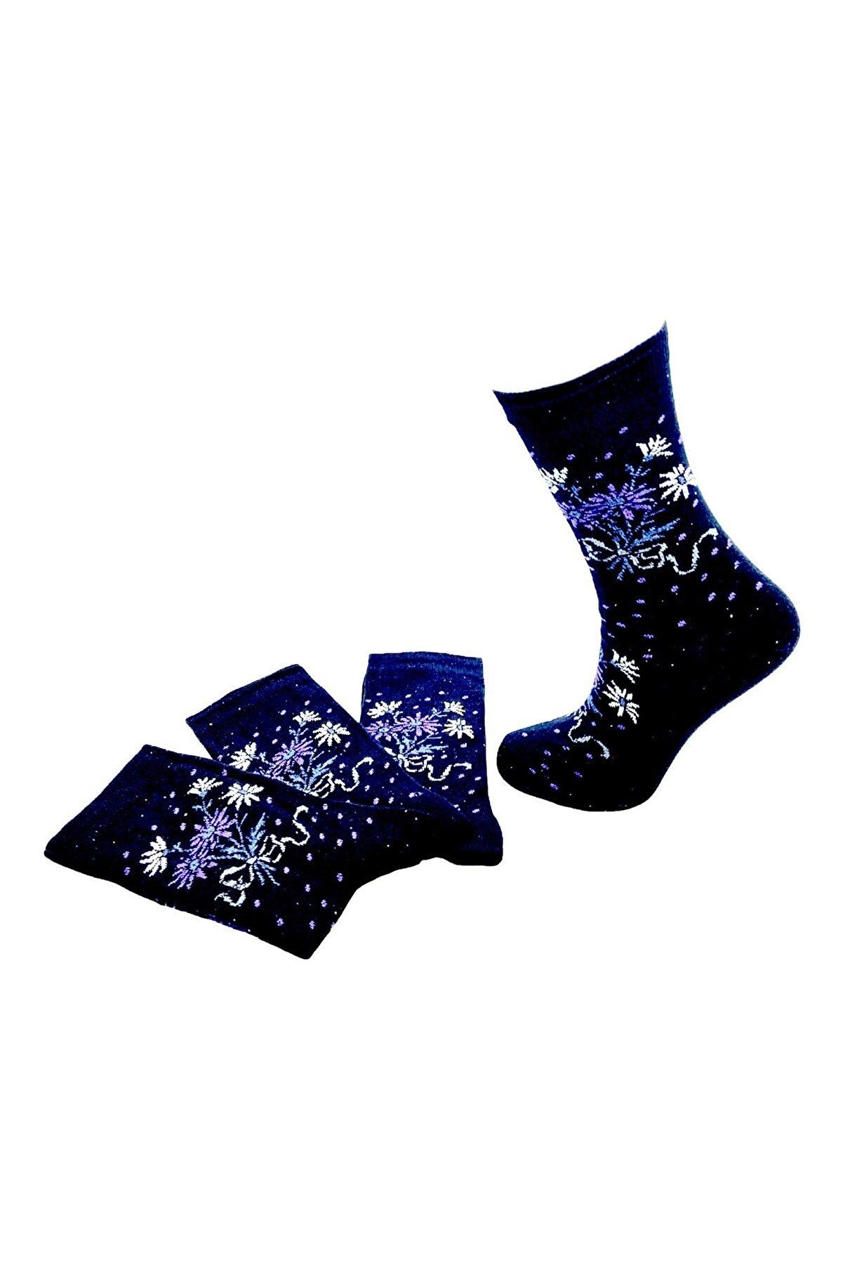 Black Arden Socks Kadın Ekonomik Çorap 4'lü 36-40 Bt-0216