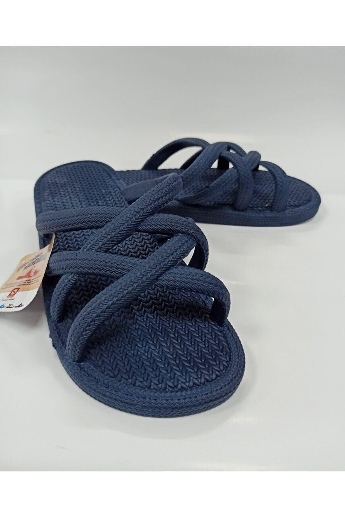 Gezer Kadın Hasır Gorumun Kaydırmaz Havuz Plaj Banyo Ve Outdoor Terlik- Altın Adım Ayakkabı
